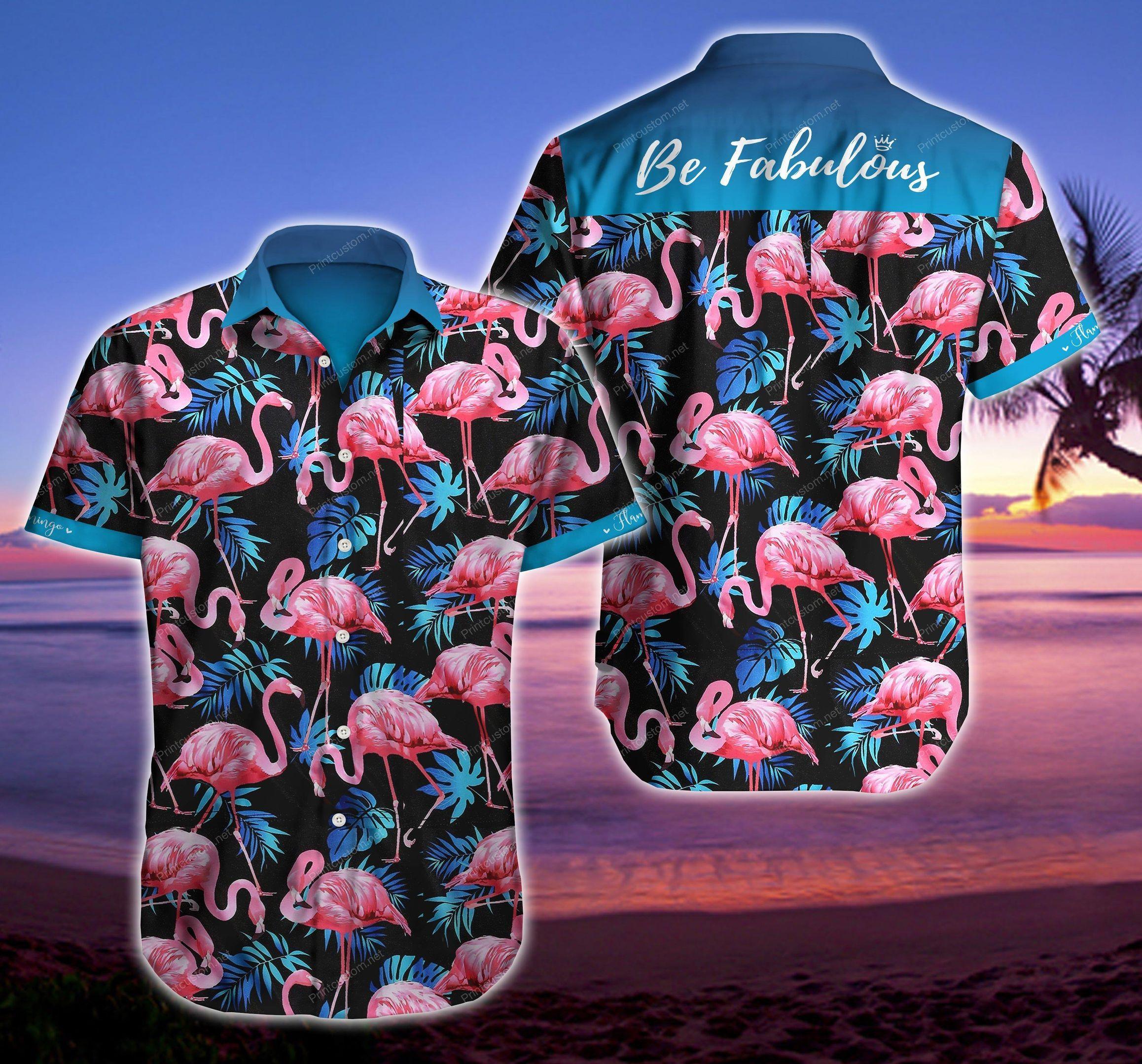 Be Fabulous Flamingo Hawaiian Shirt Summer Shirt