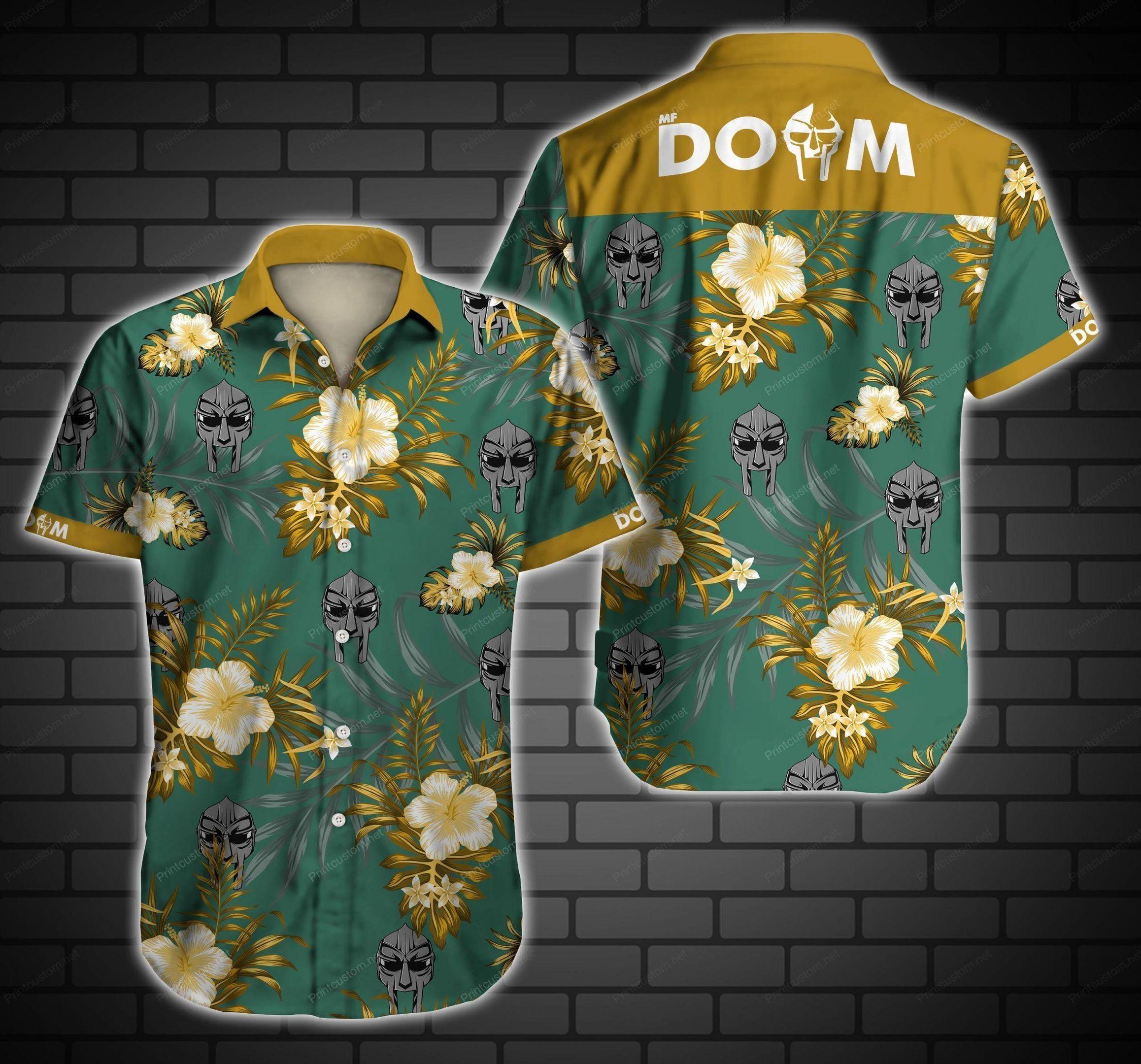 MF Doom Floral Hawaiian Shirt Summer Shirt