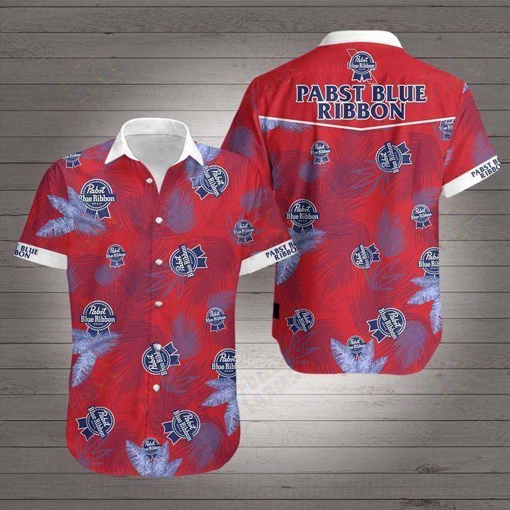 Pabst blue ribbon beer Hawaiian Shirt Button up Shirt