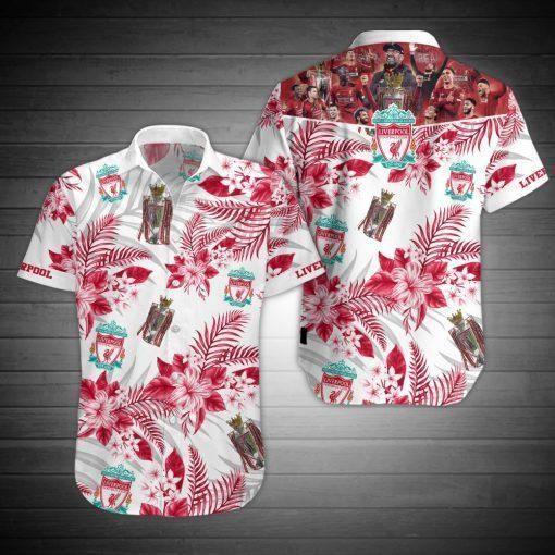 Liverpool FC Premier League football Hawaiian Shirt Beach Wear