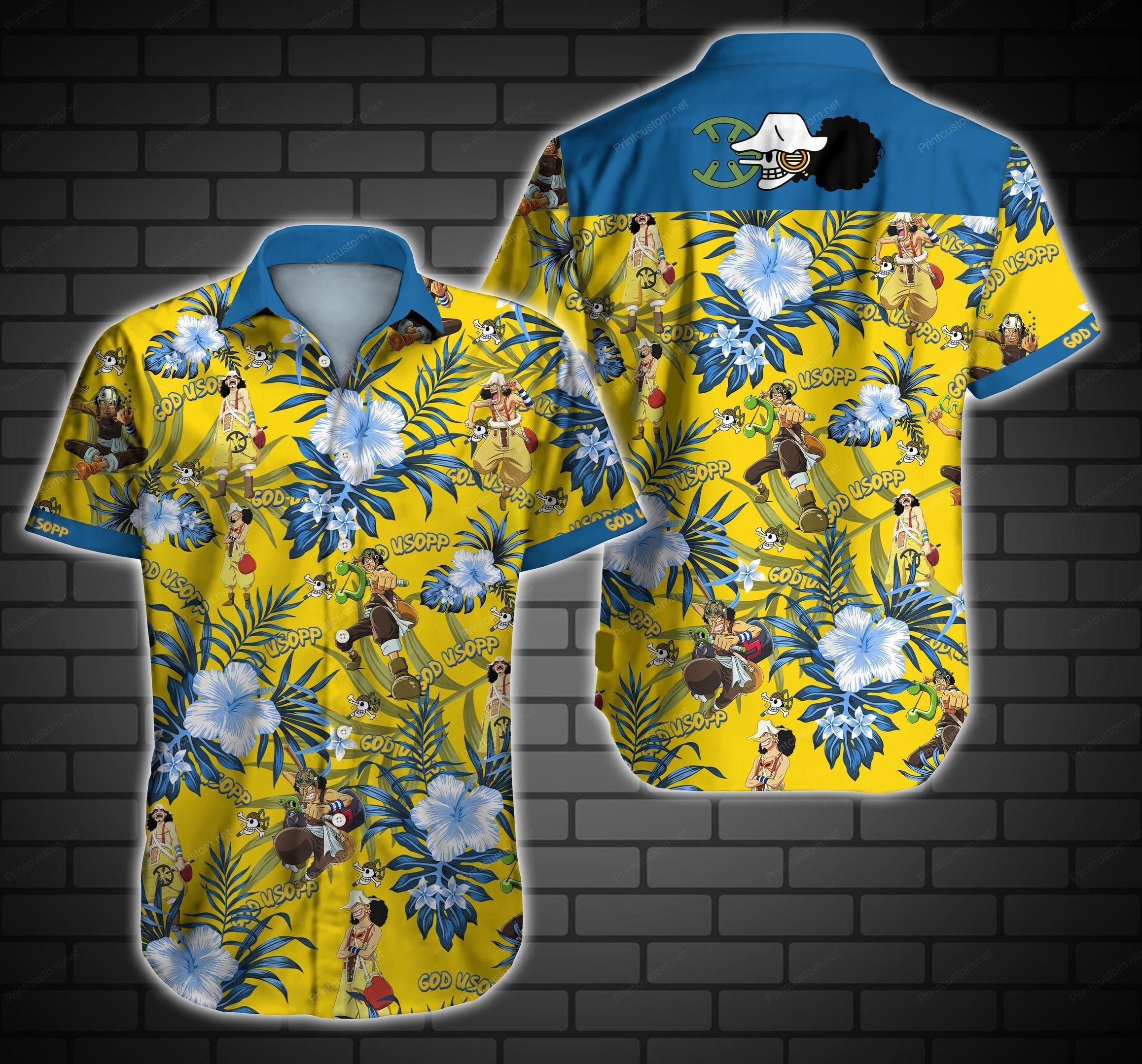 God Usopp One Piece Hawaiian Shirt Summer Shirt