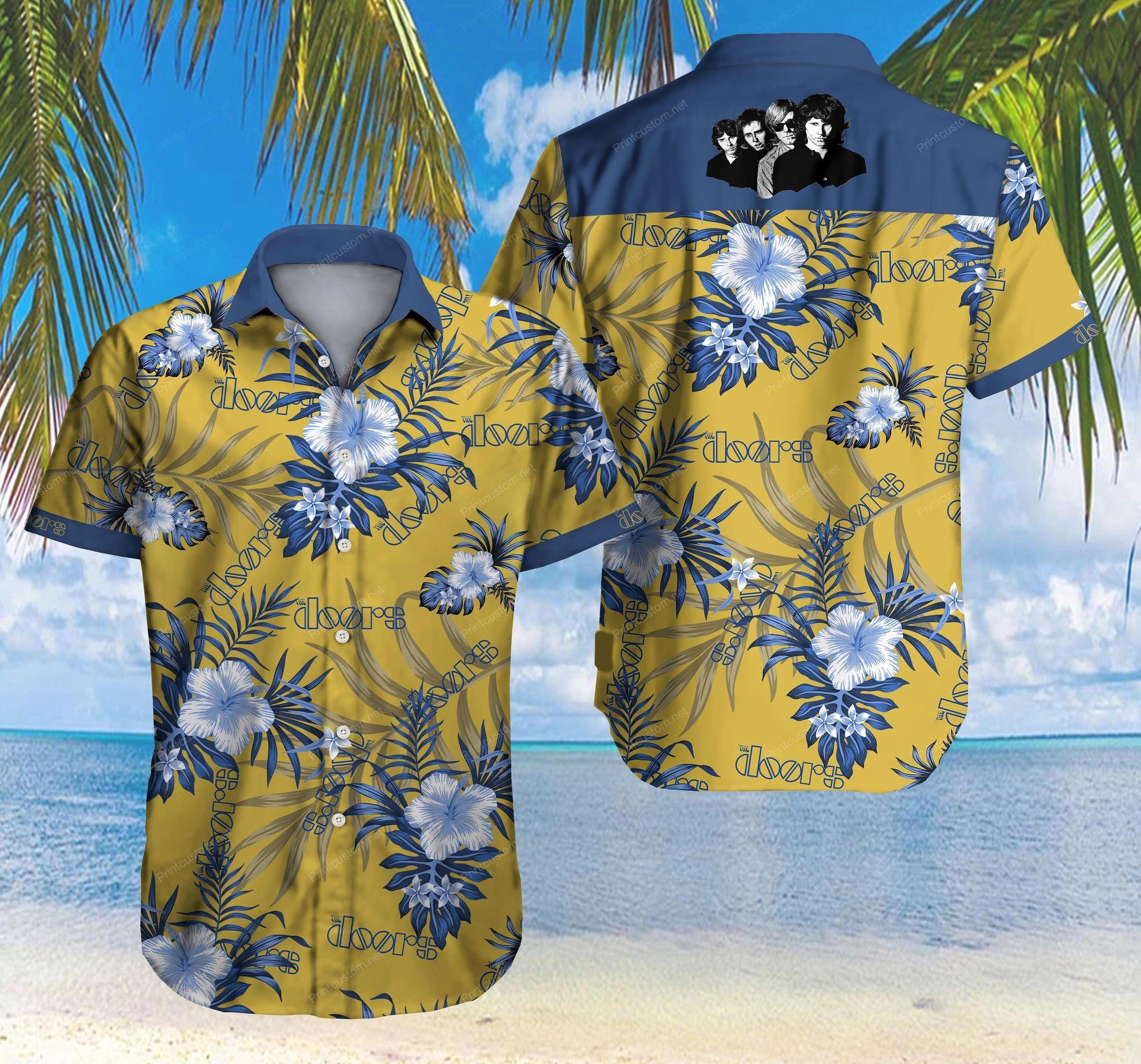 The Doors rock band Floral Hawaiian Shirt Summer Shirt