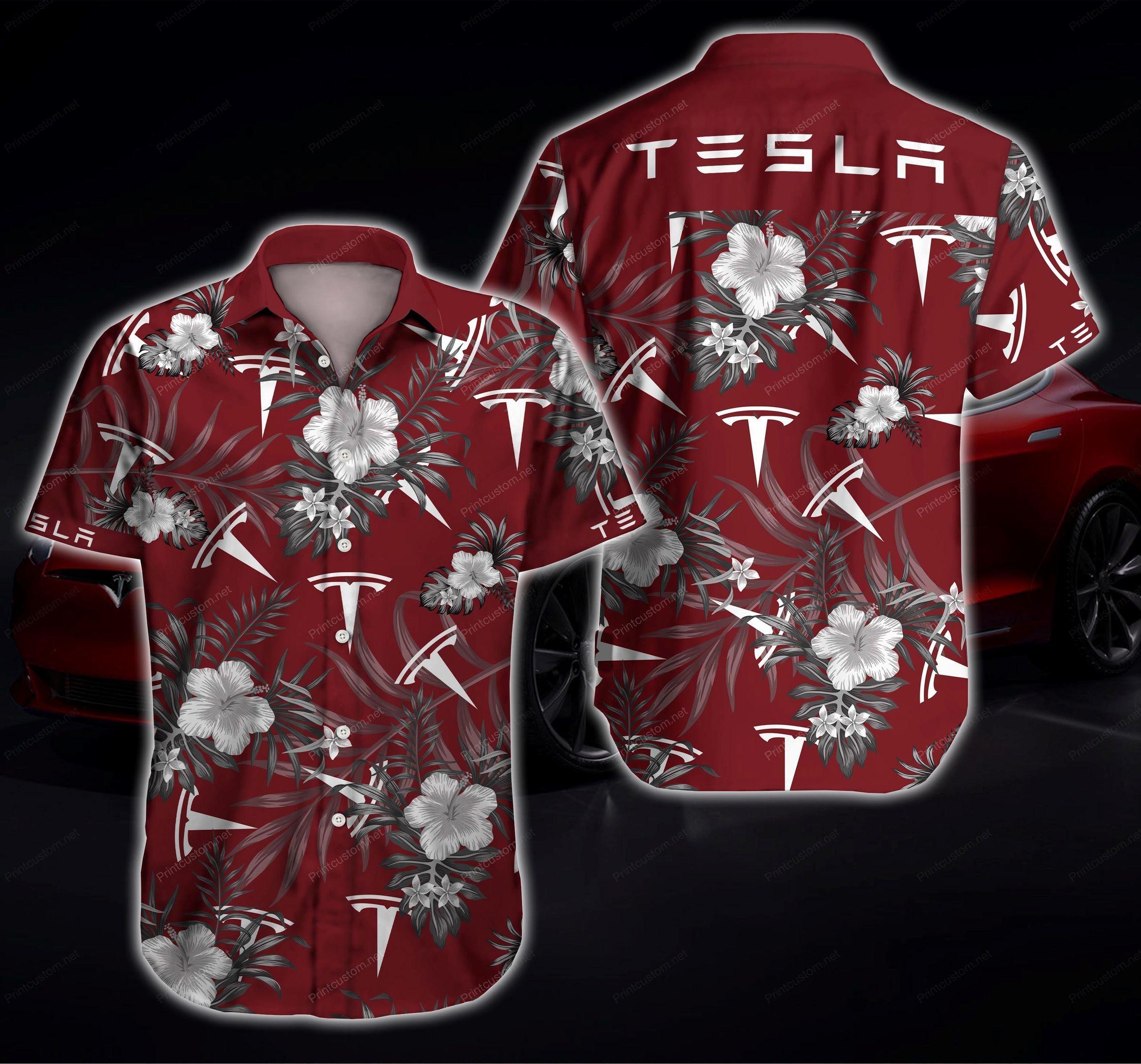 Tesla Hawaiian Shirt Summer Shirt
