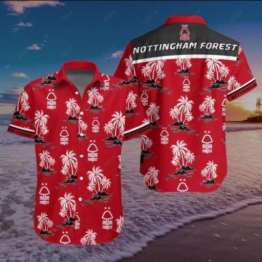 Nottingham Forest FC Hawaiian Shirt Summer Shirt