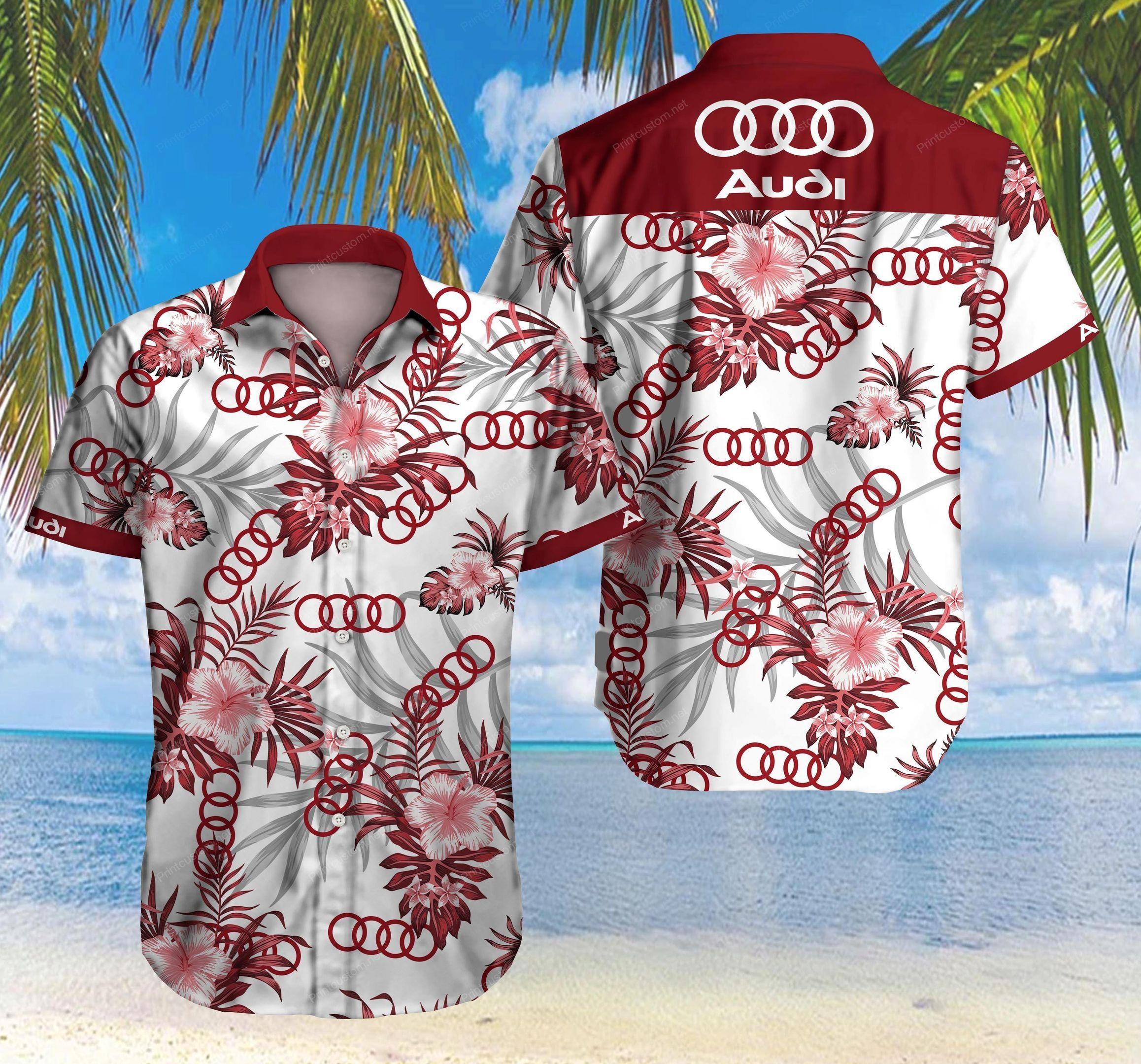 Audi Hawaiian Shirt Summer Shirt