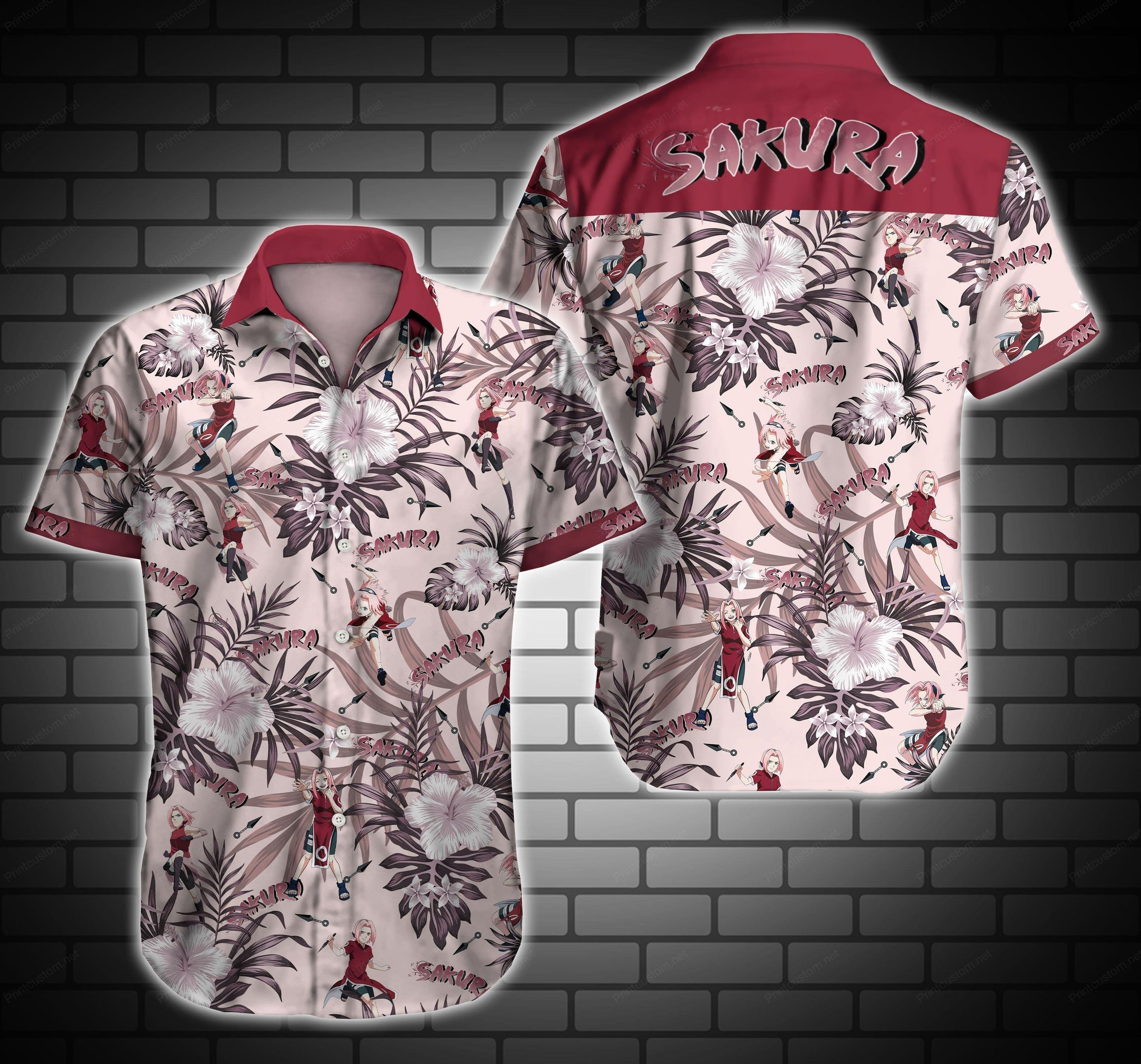 Sakura Floral Hawaiian Shirt