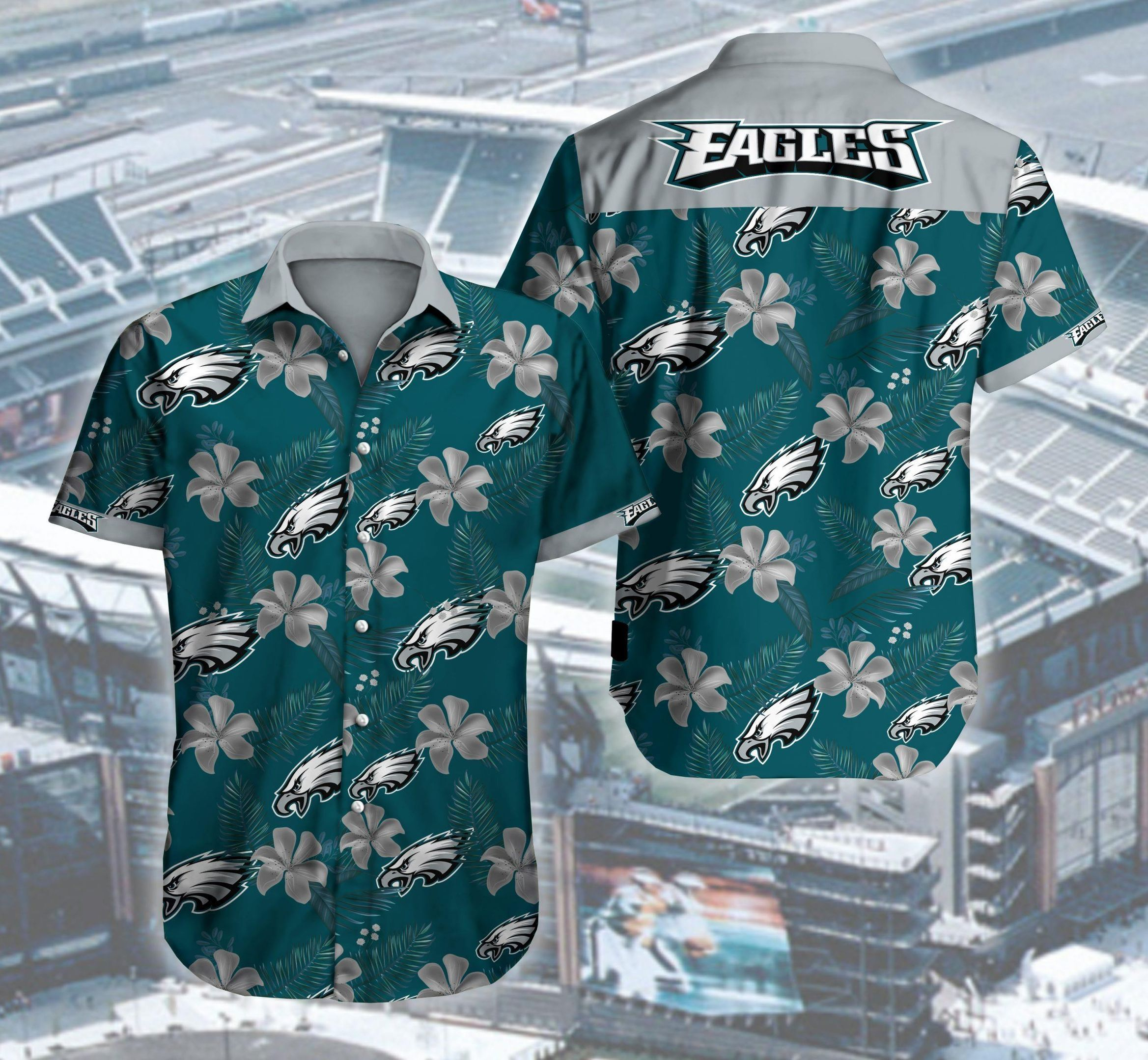Philadelphia Eagles Logos Hawaii Shirt