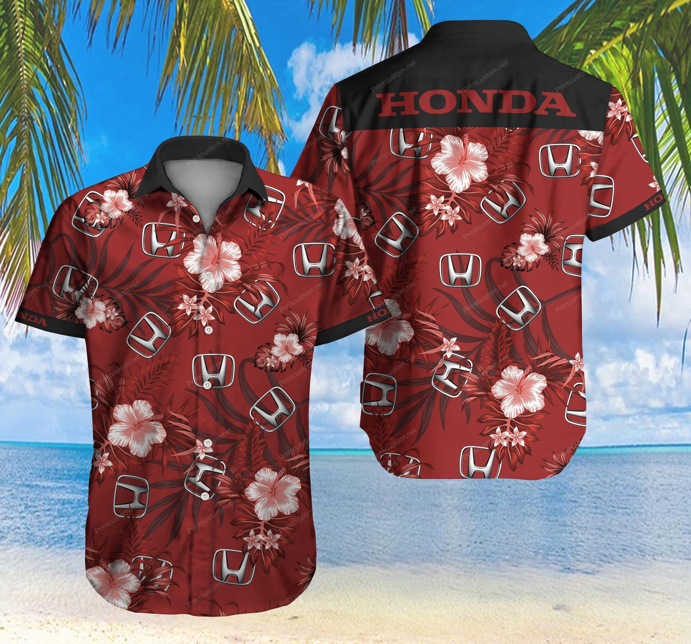 Honda Floral Hawaiian Shirt Summer Shirt