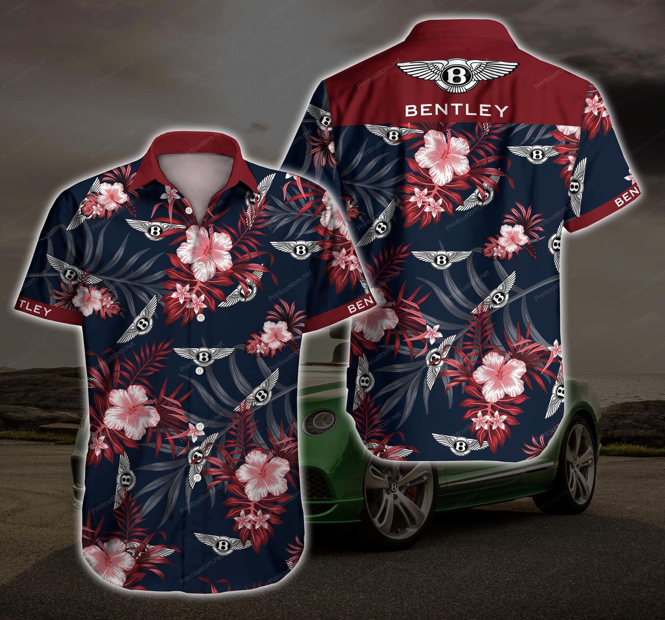 Bentley Floral Hawaiian Shirt Summer Shirt