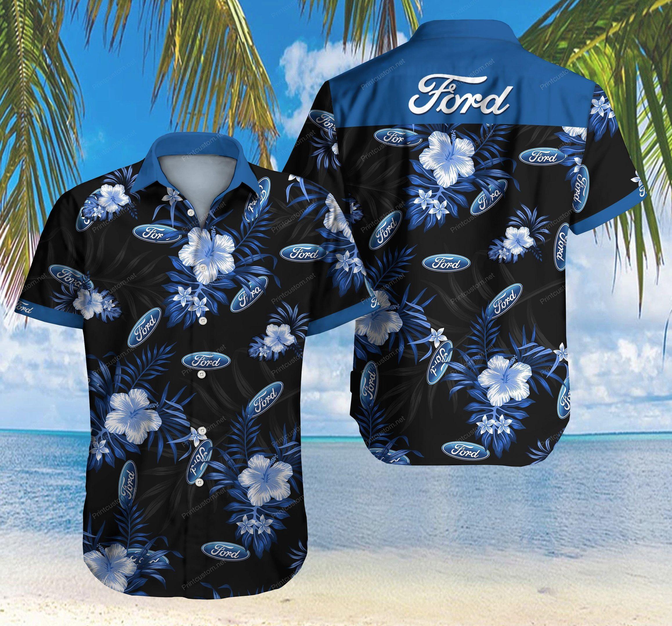 Ford Hawaiian Shirt Summer Shirt