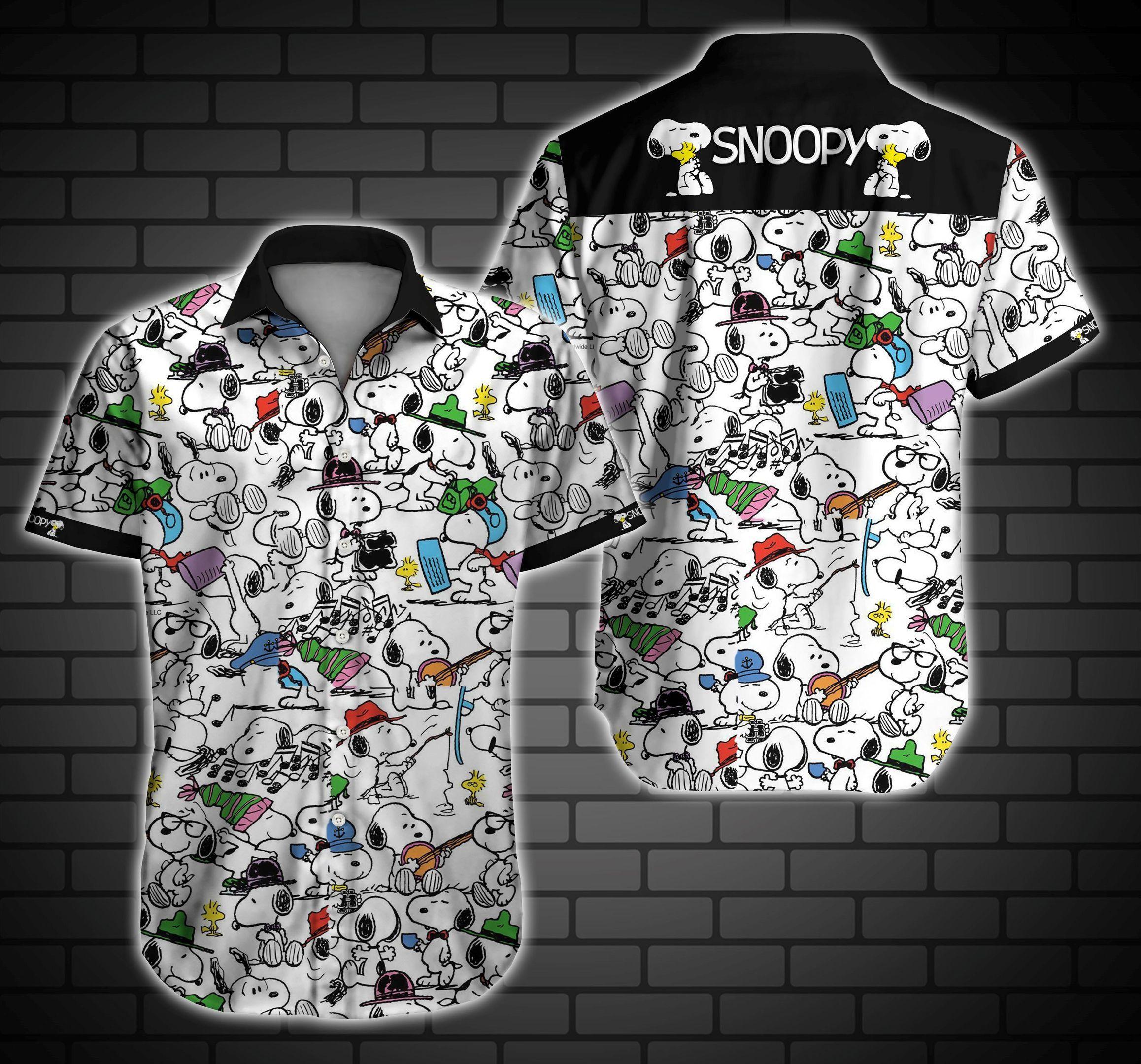 Snoopy Hawaiian Shirt Summer Shirt