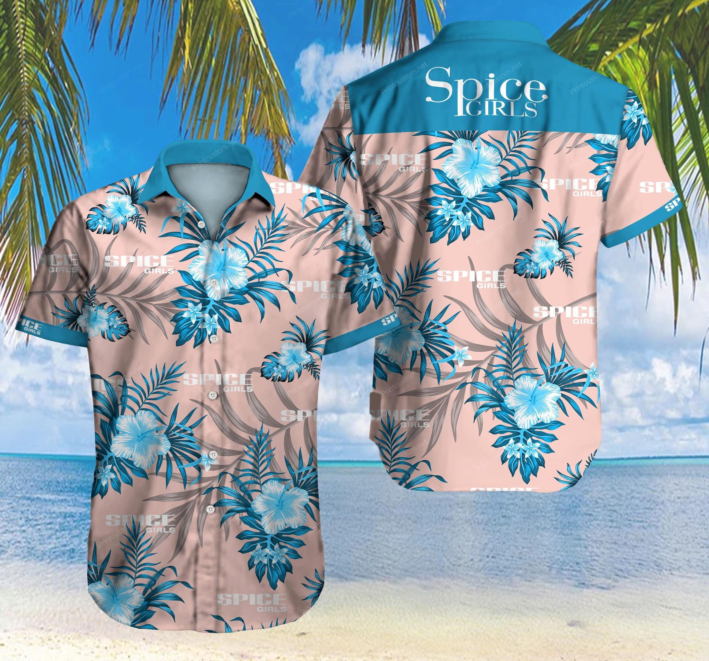 Spice Girl Floral Hawaiian Shirt Summer Shirt