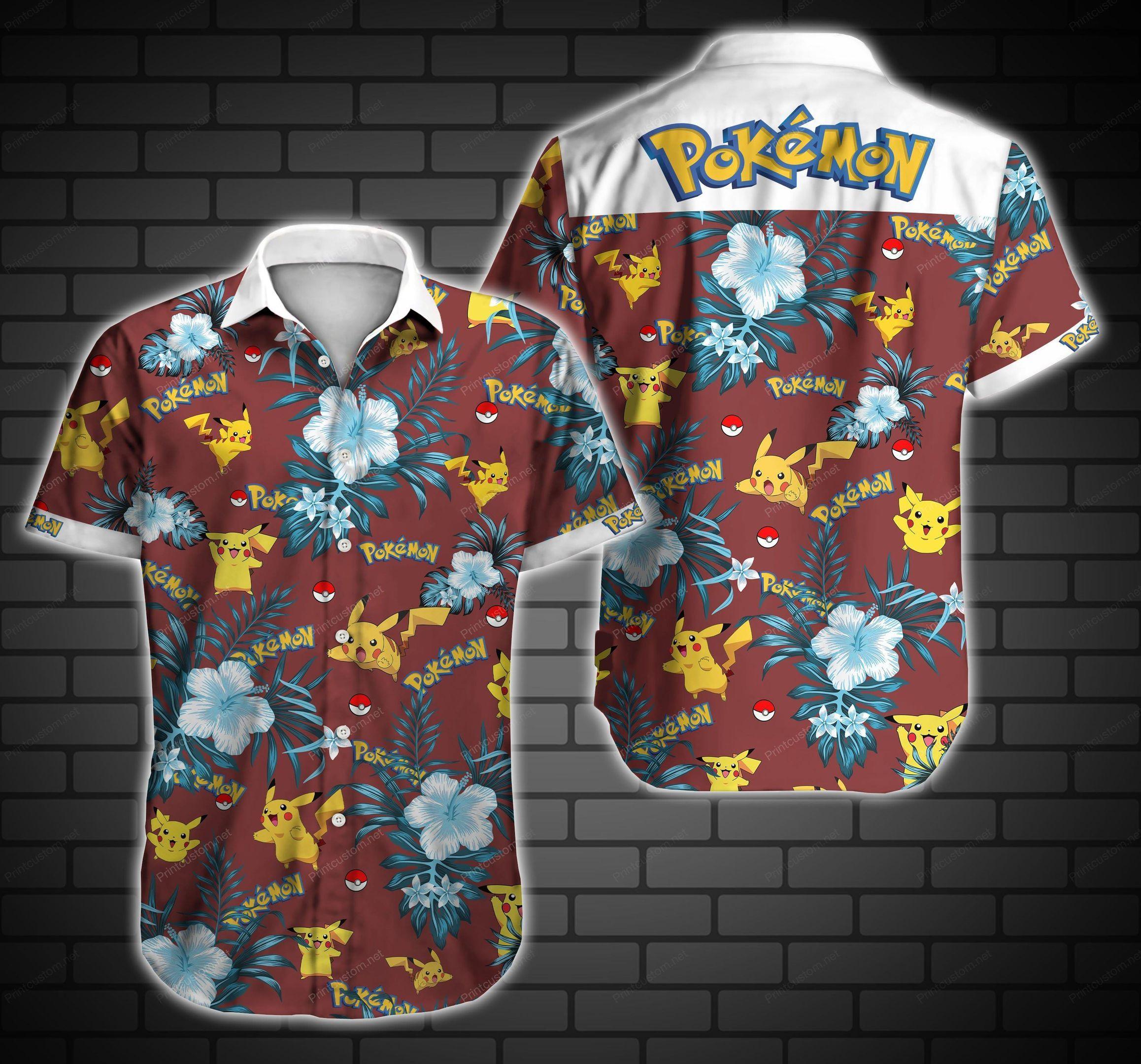 Pokemon Pikachu Hawaiian Shirt Summer Shirt