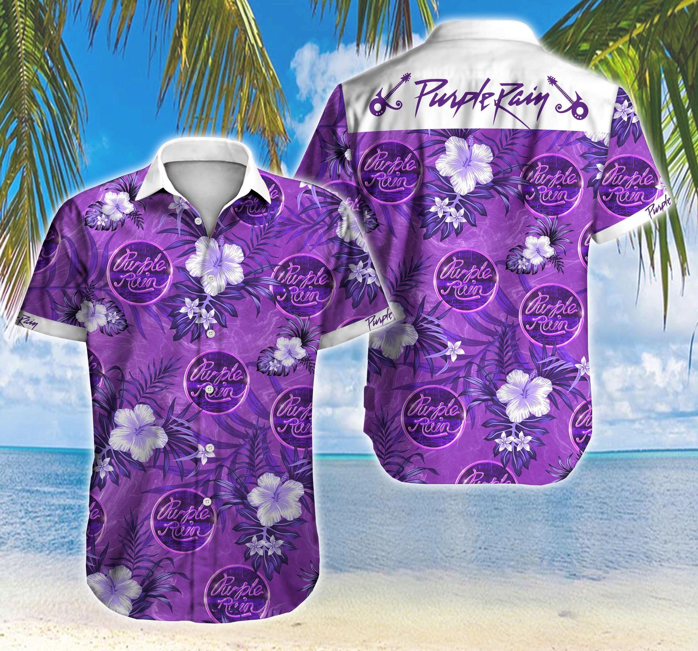 Purple Rain Logo Hawaii Shirt Summer