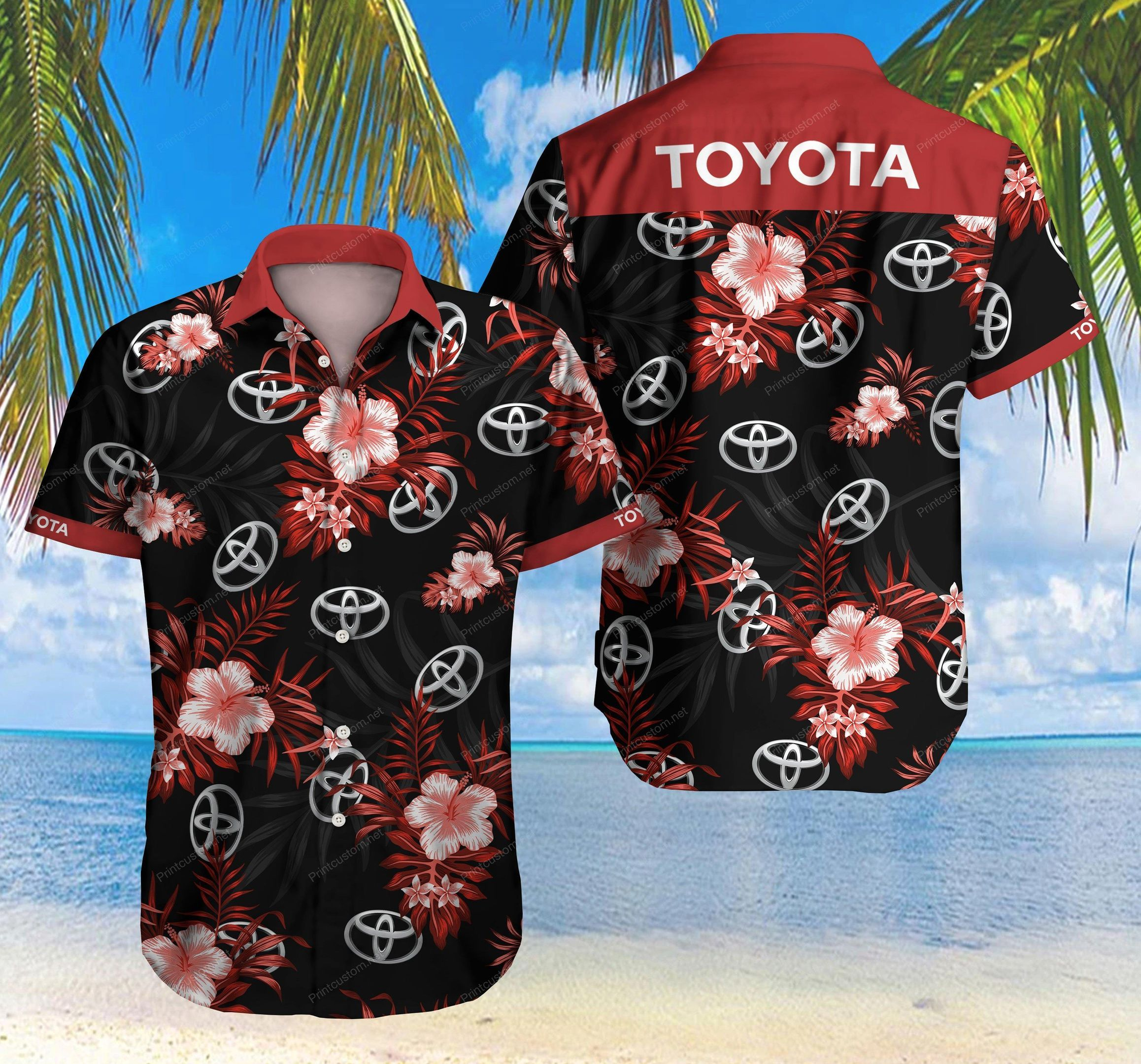 Toyota Hawaiian Shirt Summer Shirt