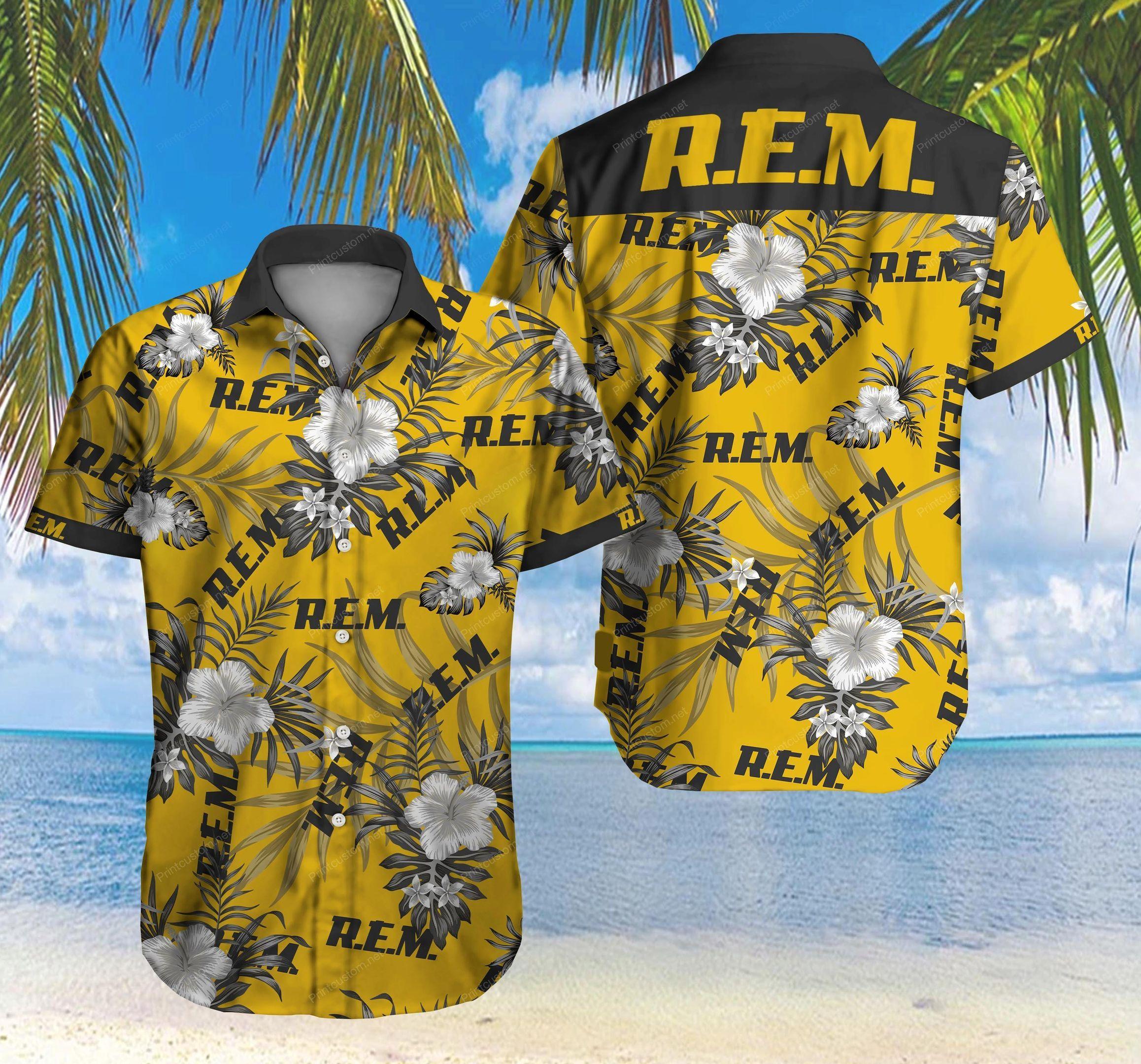 Rem Rock Band Logo Hawaiian Shirt