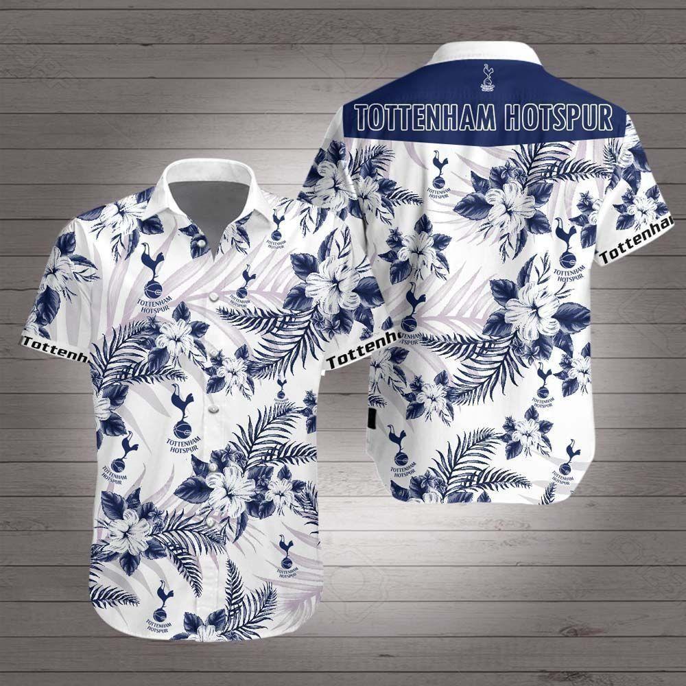 Tottenham Hotspur Floral Hawaiian Shirt Summer Shirt
