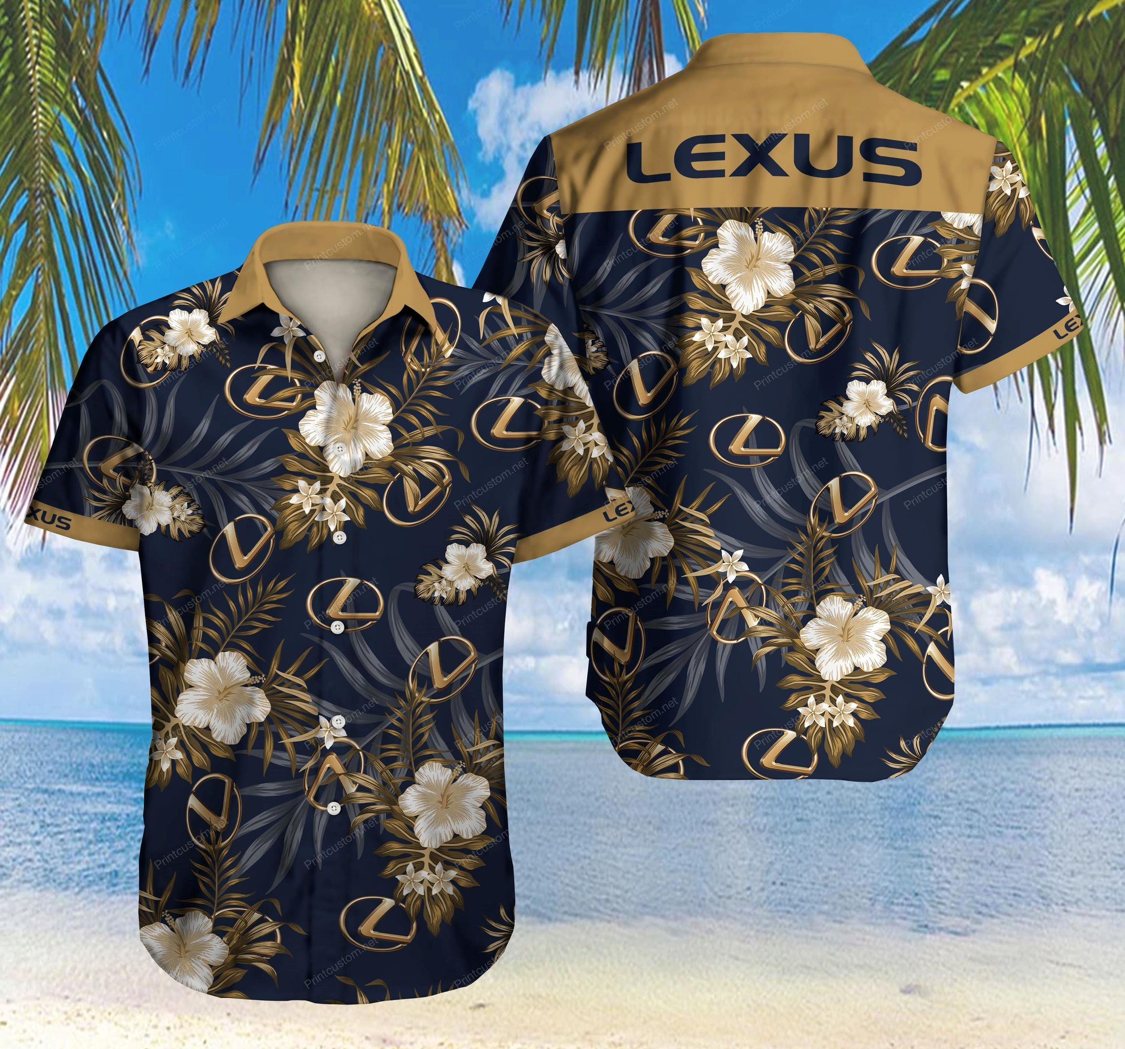 Lexus Hawaiian Shirt Summer Shirt