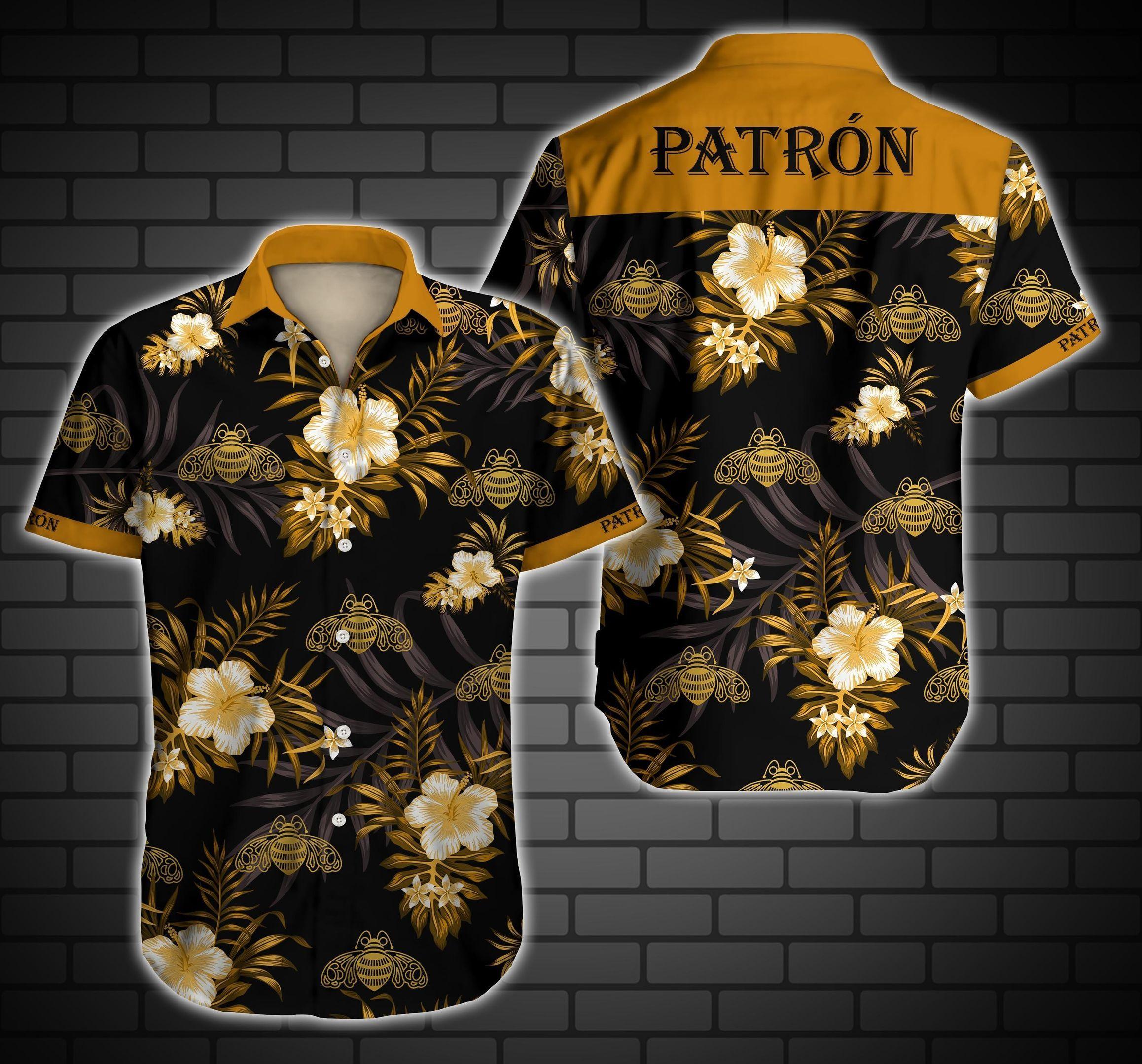 Patron Floral Hawaiian Shirt Summer Beach Shirt