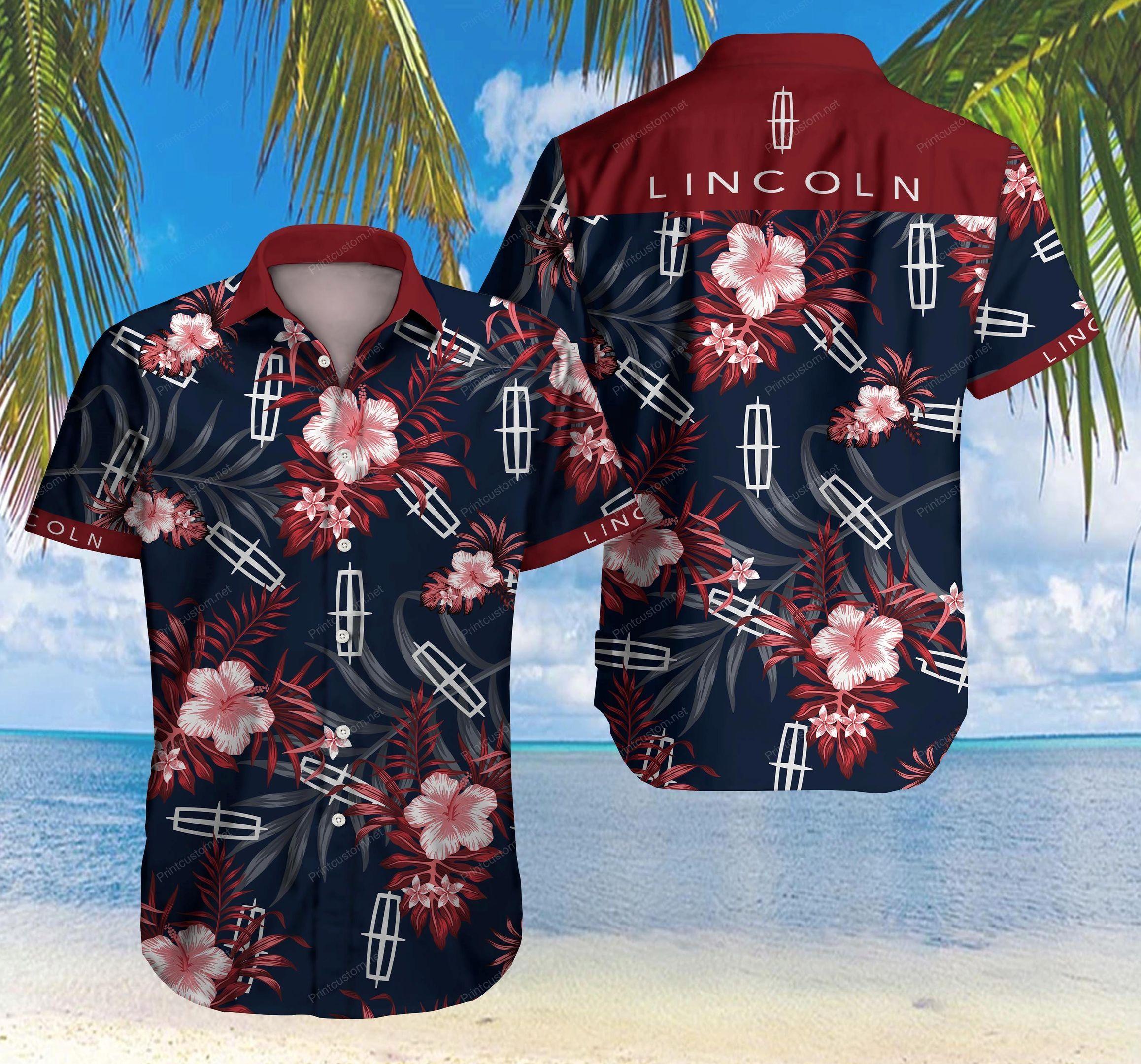 Lincoln Car Hawaiian Shirt Summer Shirt