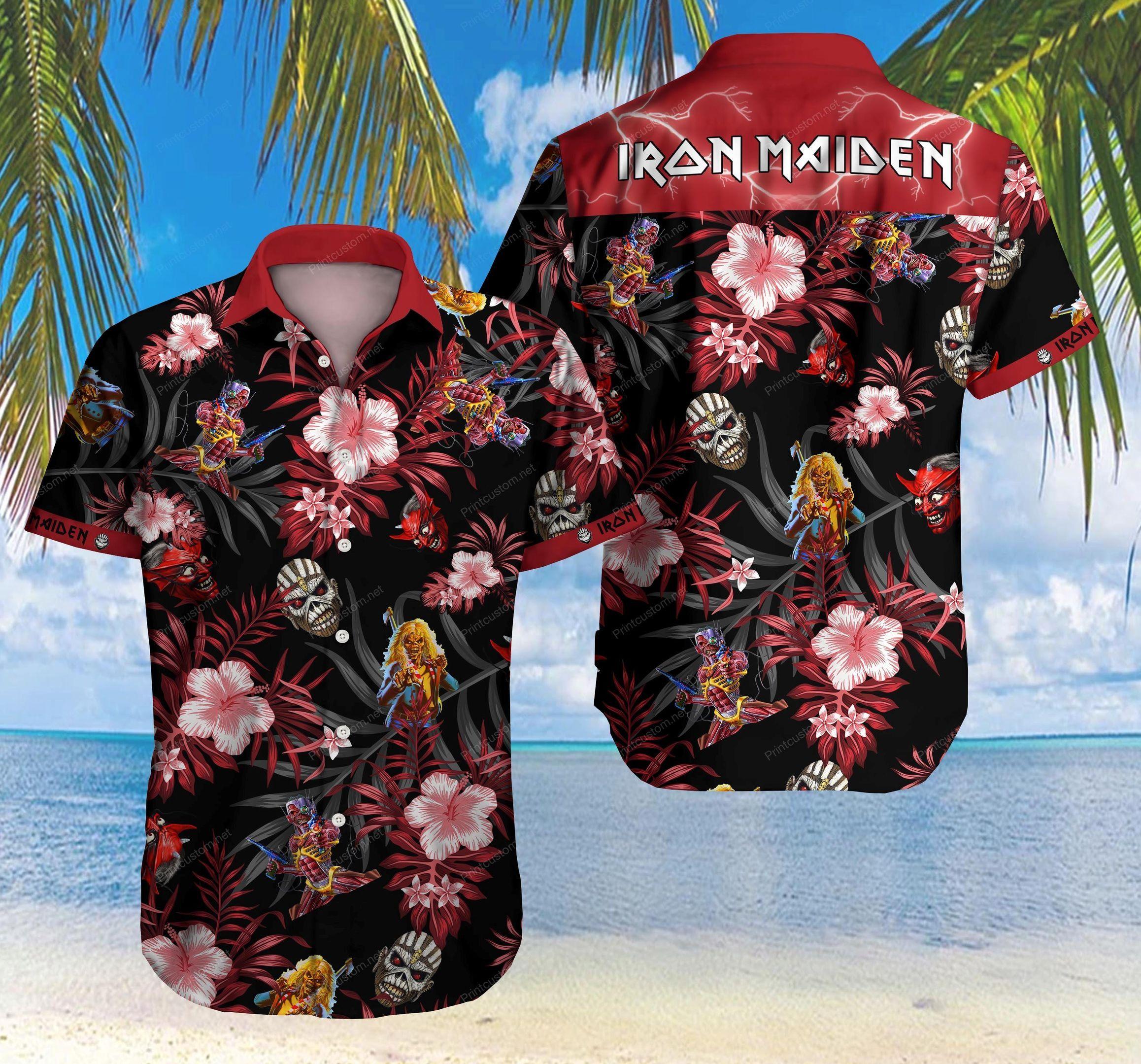Iron maiden Heavy Metal Hawaiian Shirt Summer Shirt