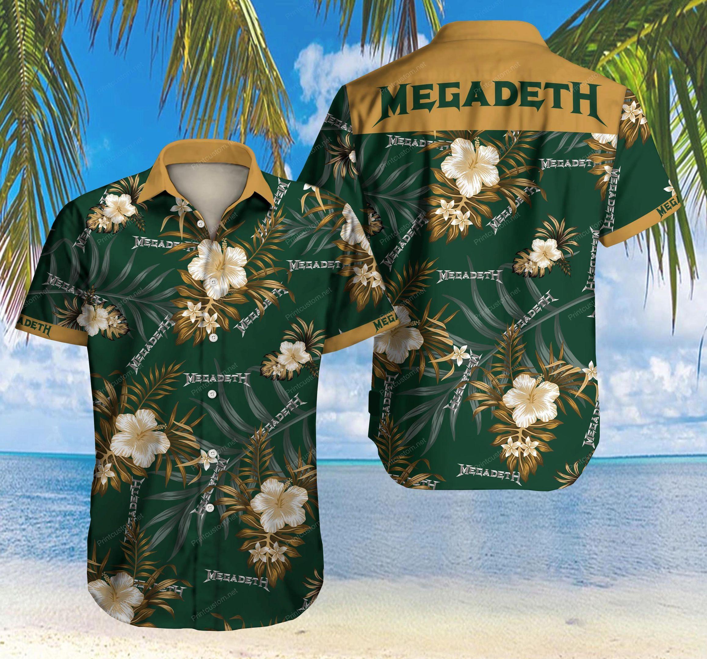 Megadeth Hawaiian Shirt Summer Shirt