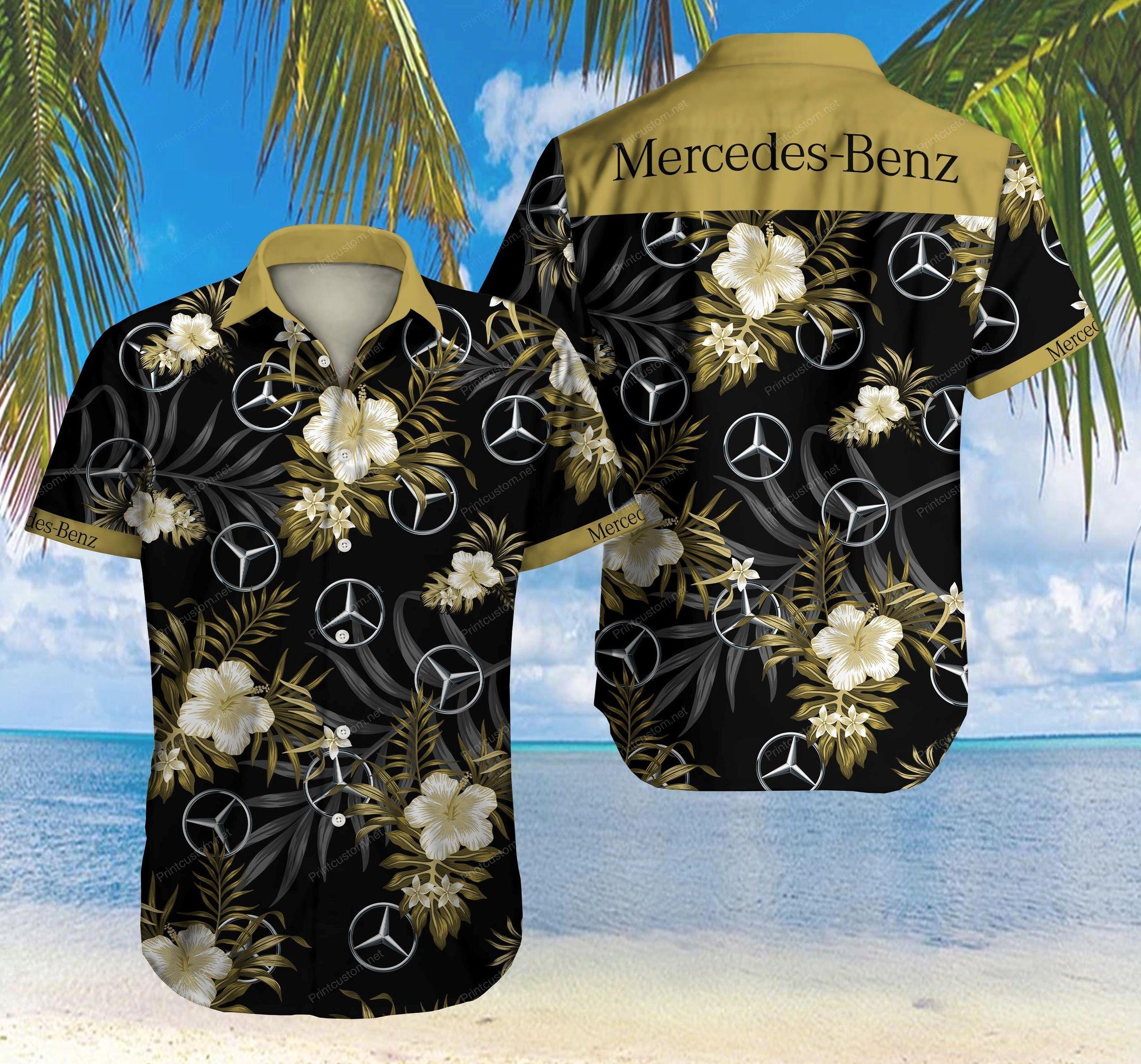 Mercedes Benz Hawaiian Shirt Summer Shirt