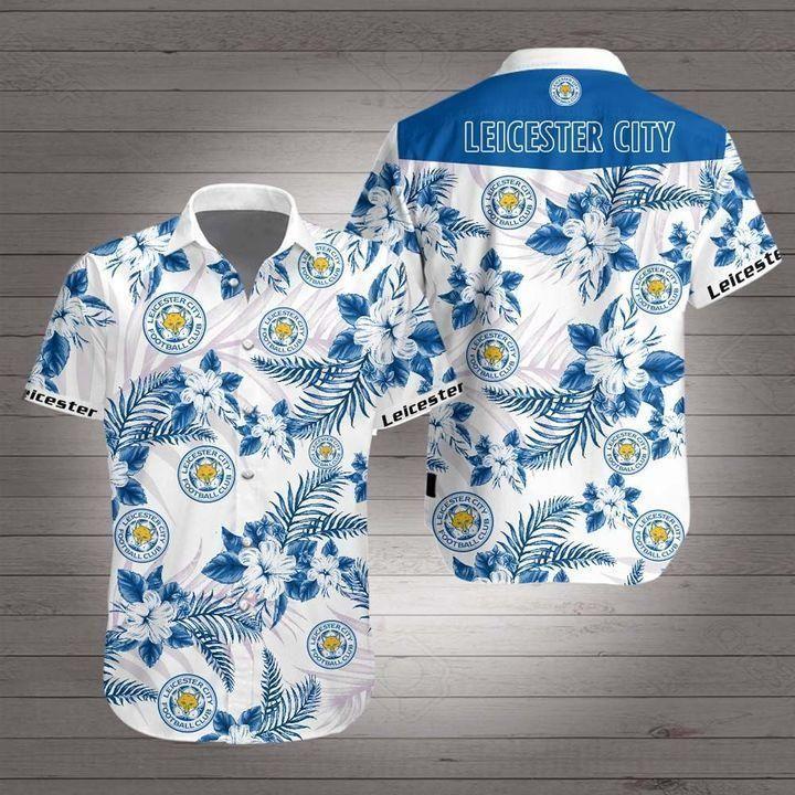 Leicester city Premier League football Hawaiian Shirt Summer Shirt