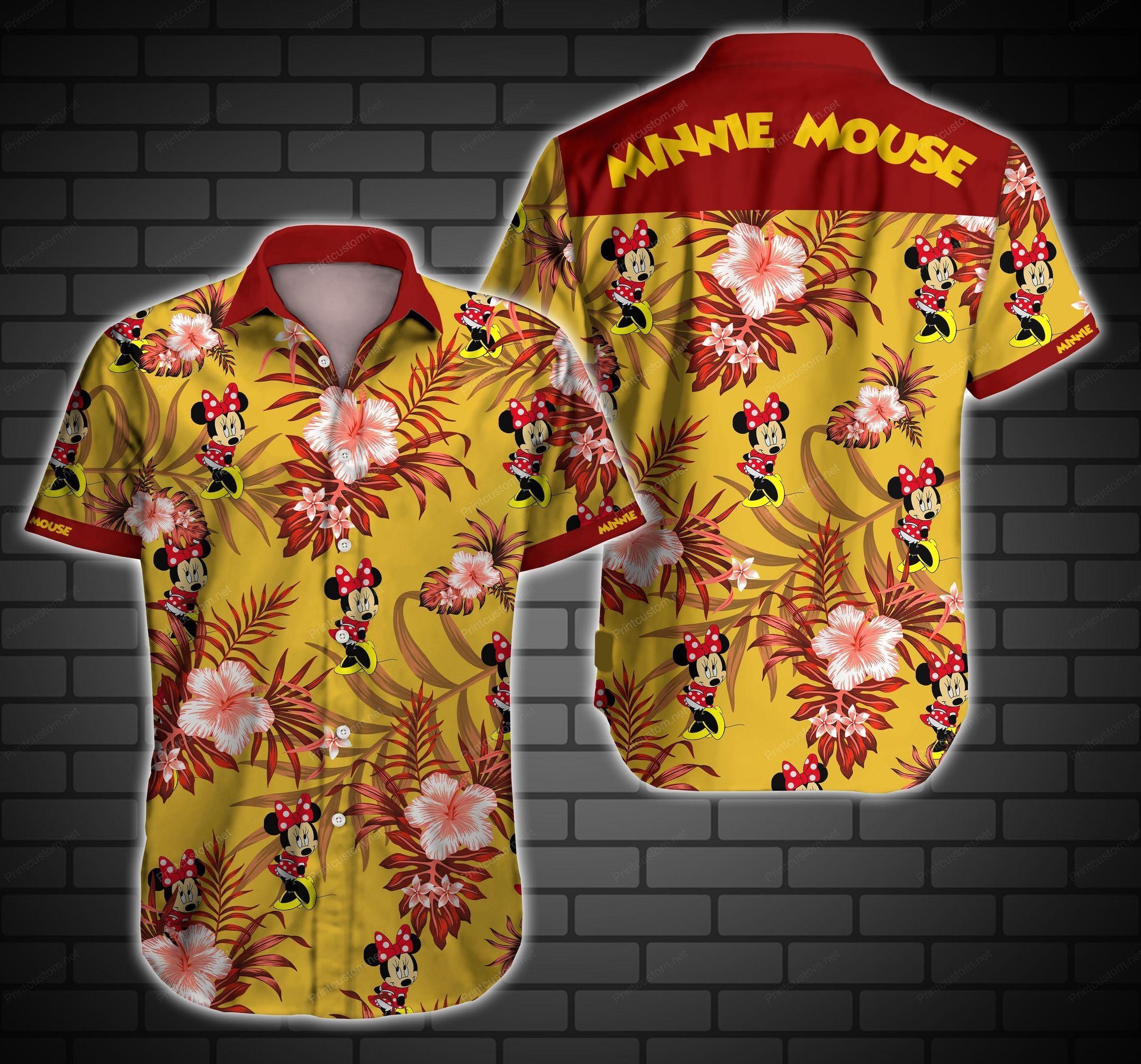Minnie Floral Hawaii Shirt Summer Shirt