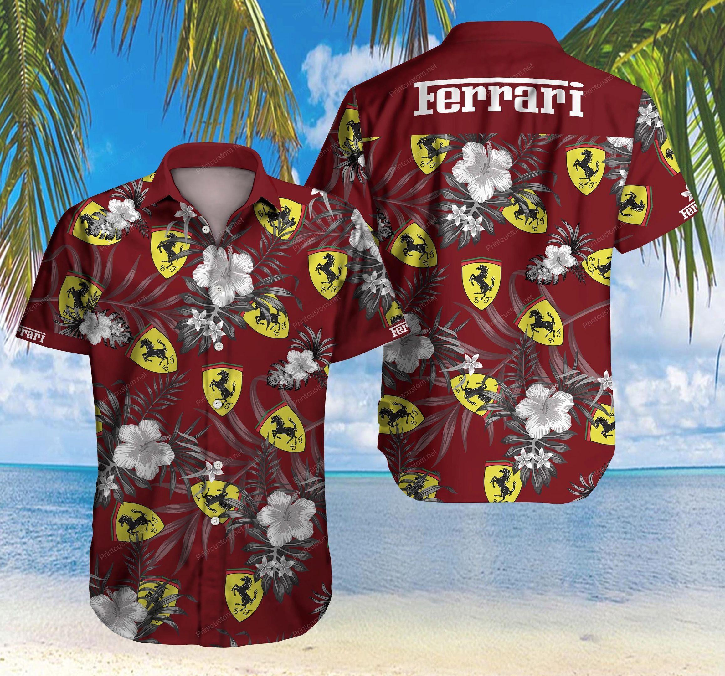 Ferrari car logo Hawaiian Shirt Summer Shirt