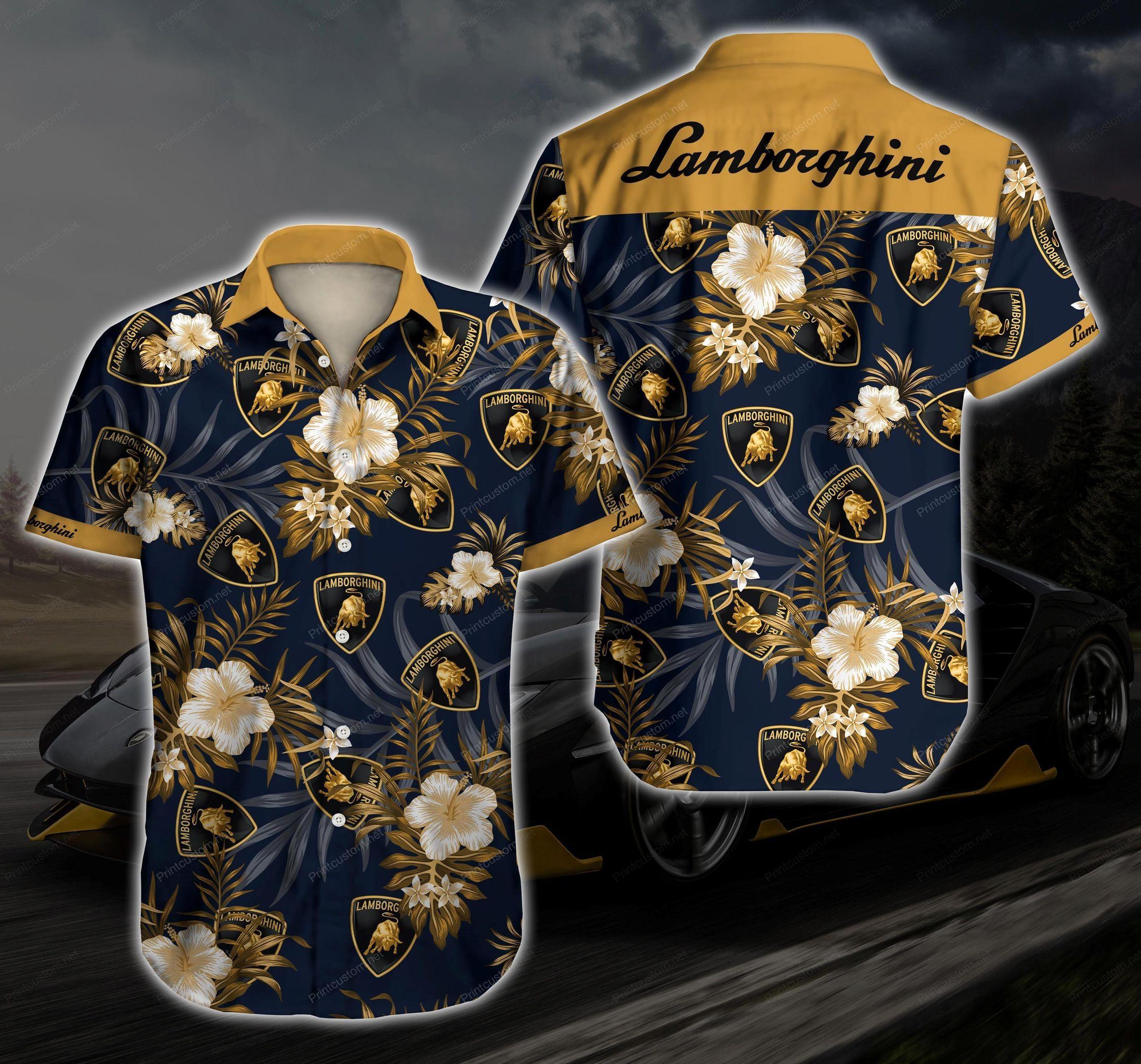 Lamborghini Hawaiian Shirt Summer Shirt