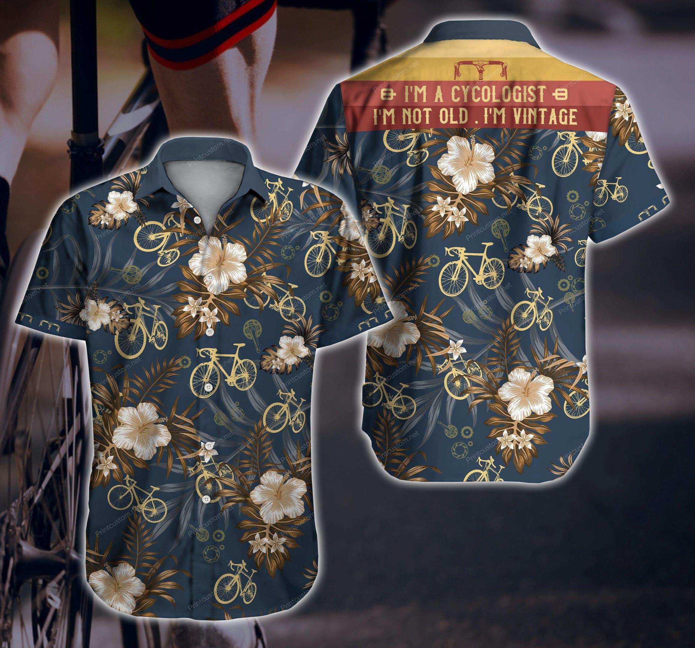 Cycologist Vintage Bicycle Floral Hawaiian Shirt