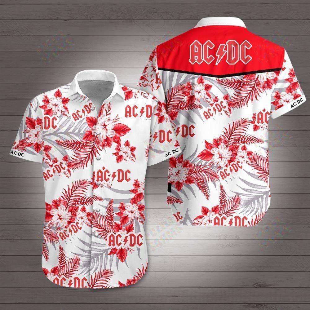 AC DC rock band Hawaiian Shirt Summer Shirt