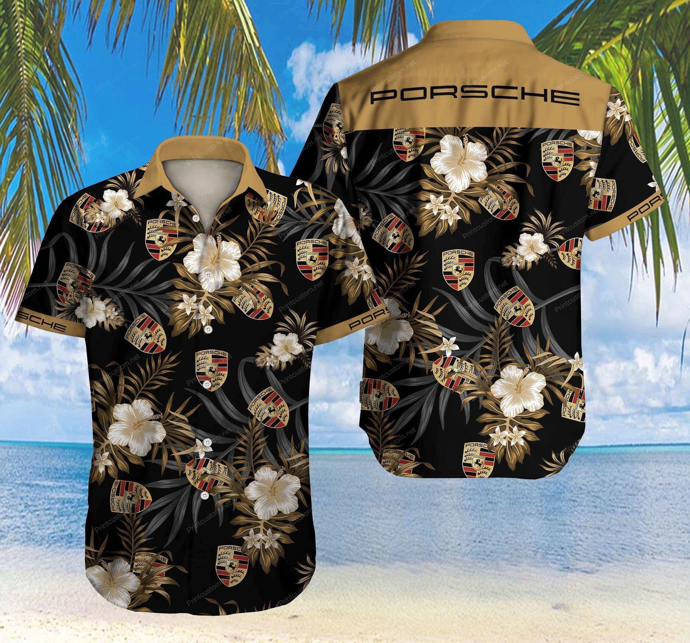 Porsche logo Hawaiian Shirt Summer Shirt