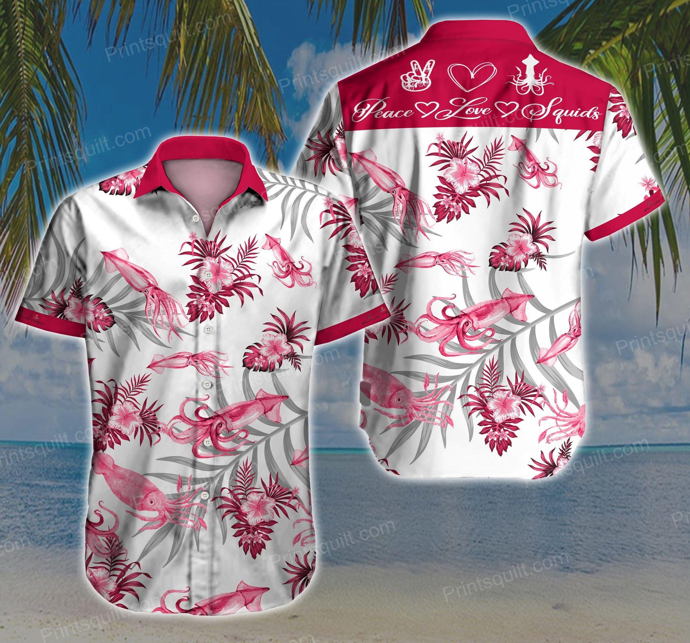 Squids Lovers 3d Hawaii Shirt V1