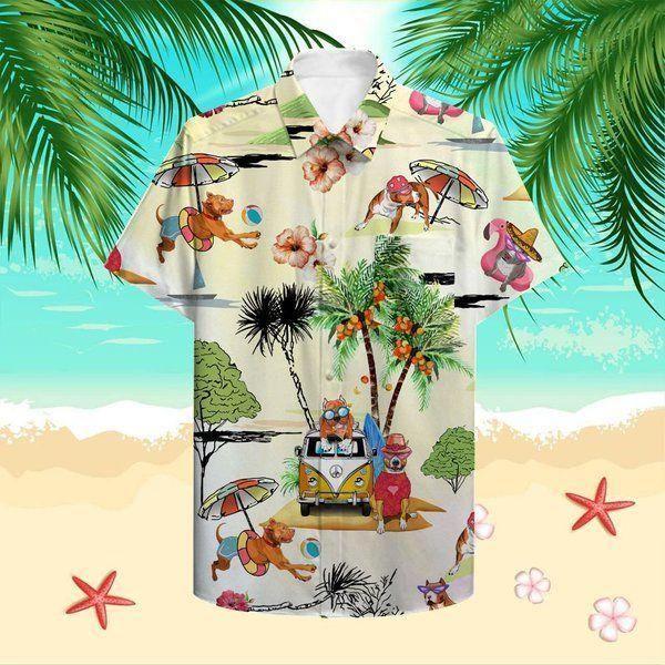 Beach vacation pitbull Hawaiian Shirt Summer Shirt