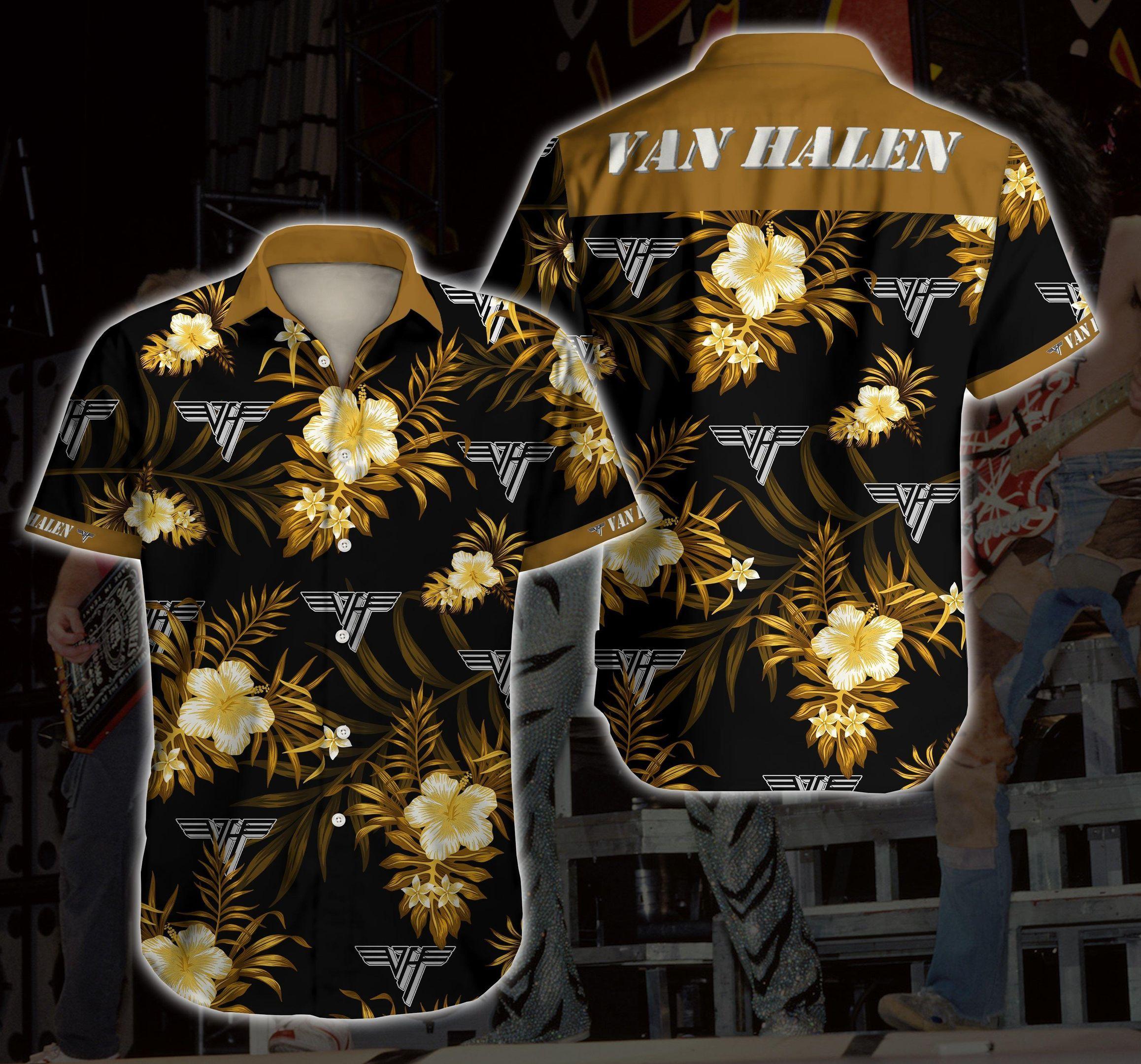 Van Halen Hawaiian Shirt Summer Shirt