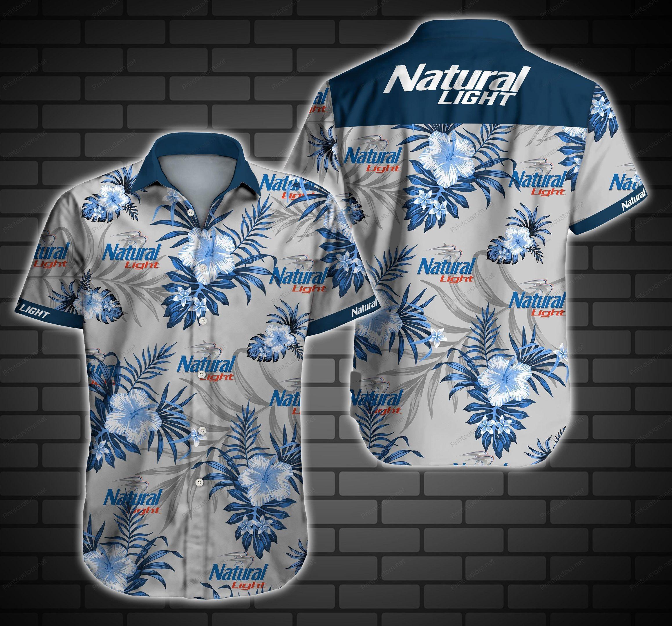 Natural Light Hawaiian Shirt Summer Shirt