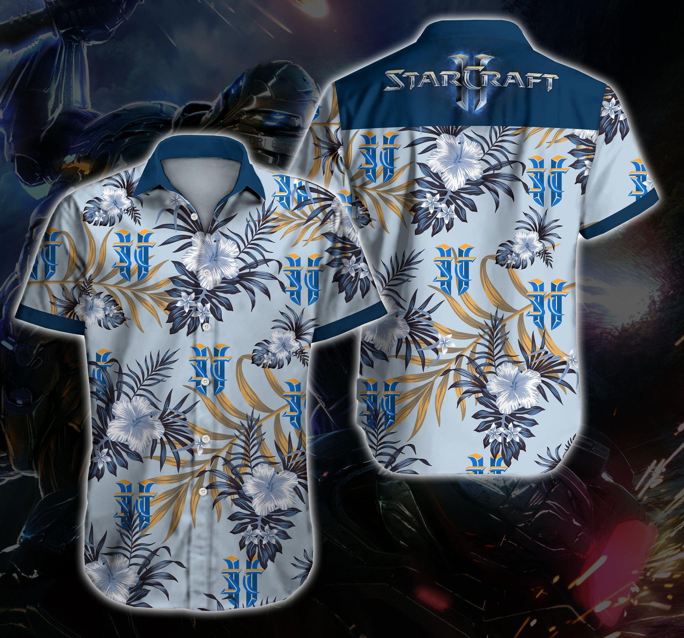Starcraft Hawaiian Shirt Summer Shirt