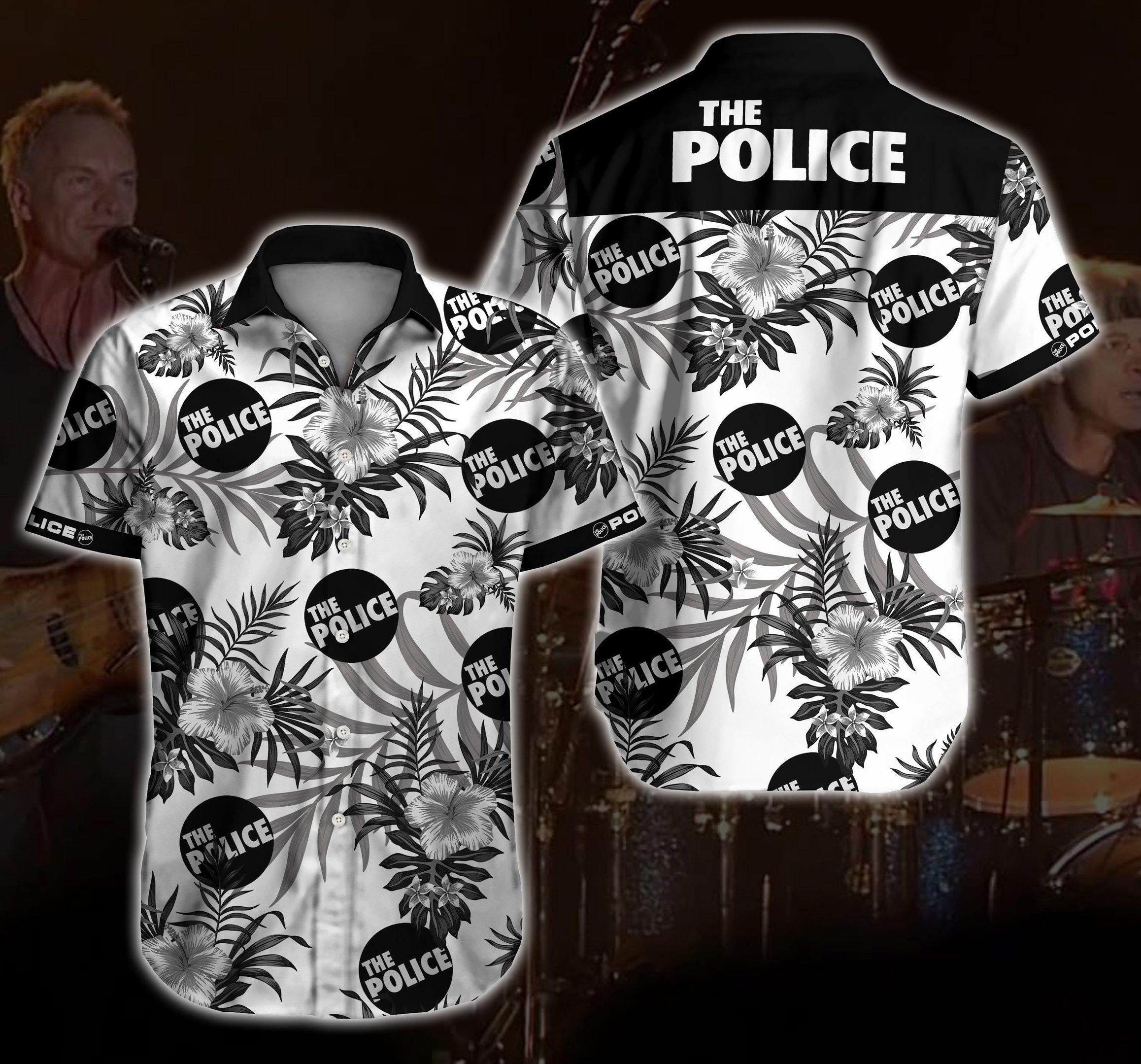 The Police rock band Hawaiian Shirt Summer Shirt