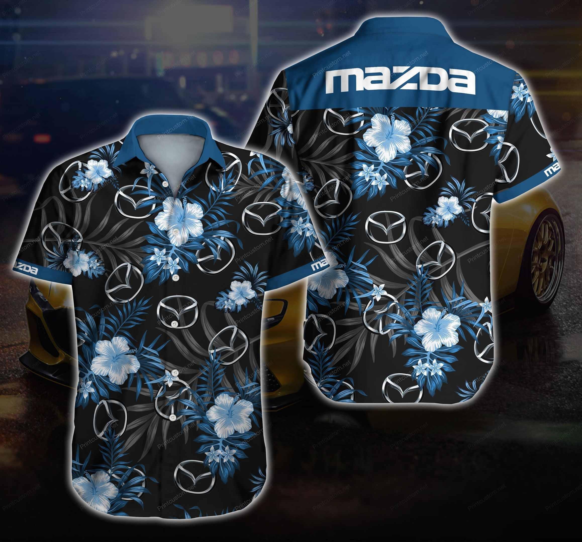 Mazda Hawaiian Shirt Summer Shirt