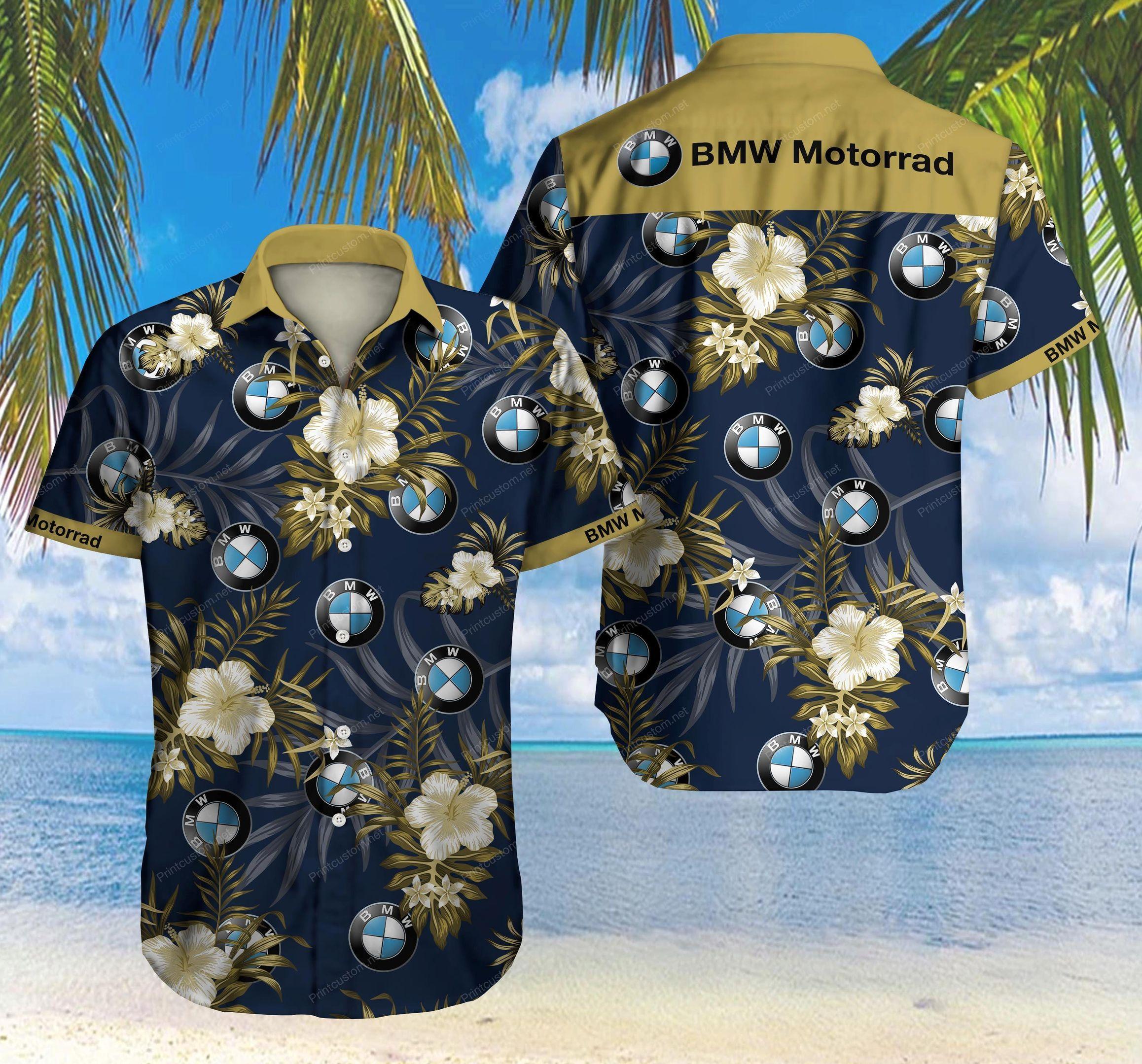 BMW Motorrad Floral Hawaiian Shirt Summer Shirt