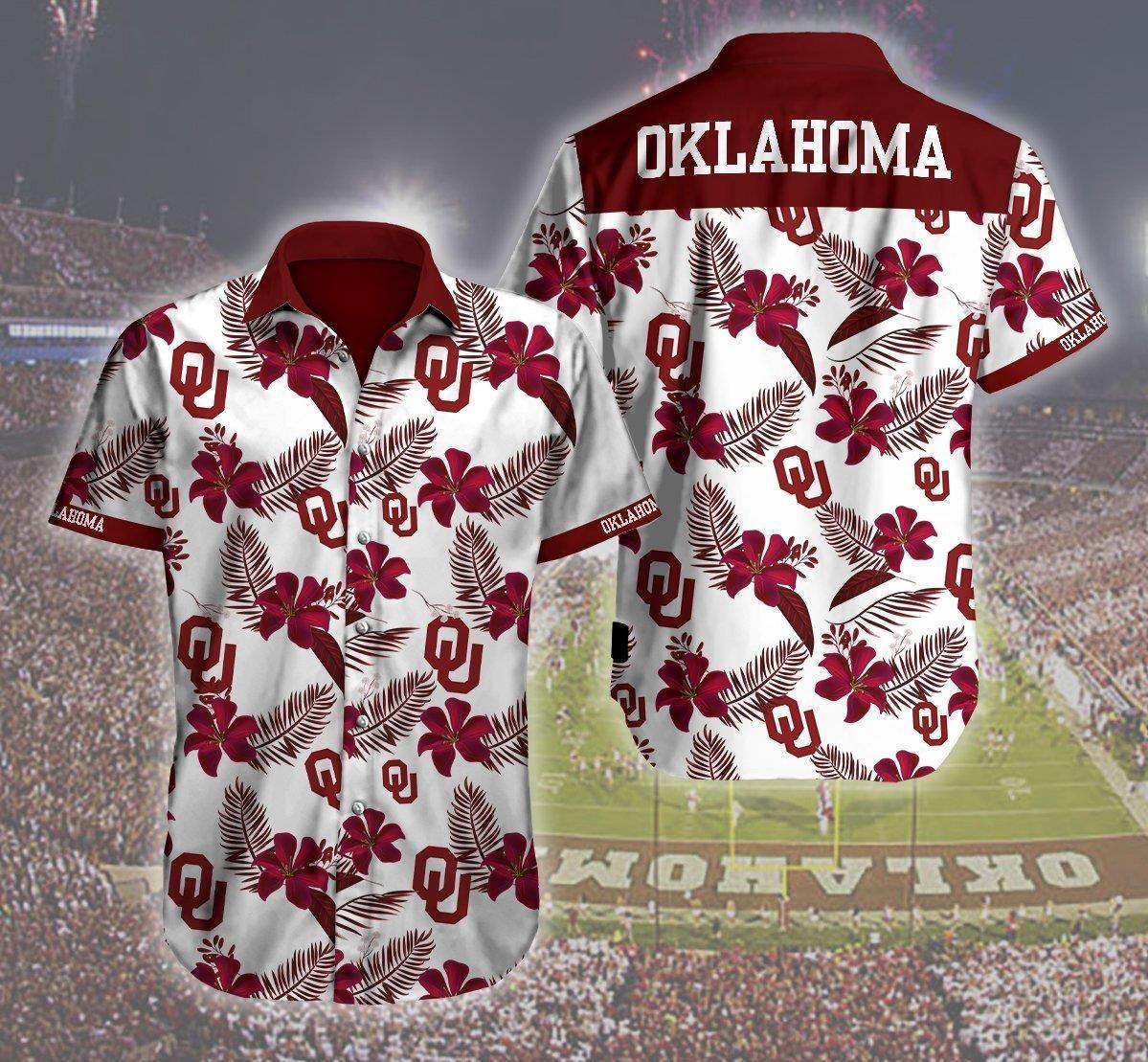 Oklahoma Sooners Logo 3d Hawaii Shirt