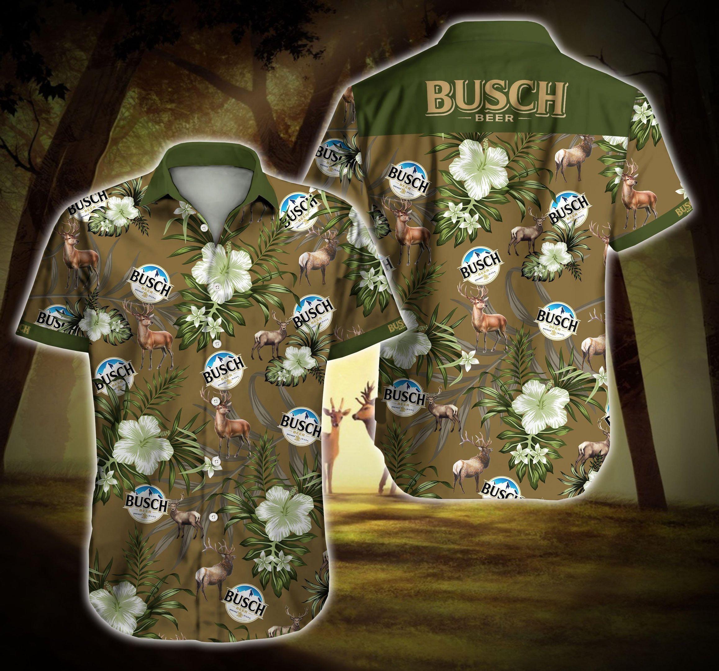 Busch Beer Deer Hawaii Shirt