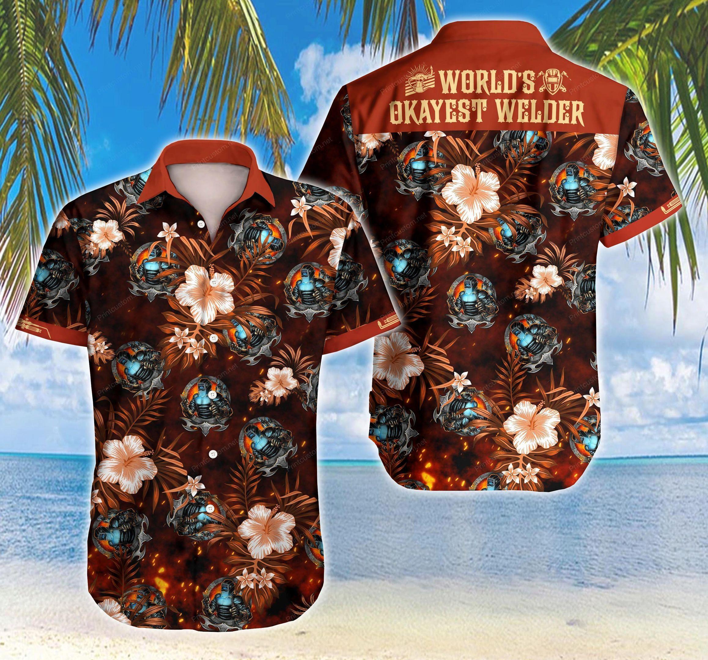 Worlds Okayest Welder Hawaiian Shirt Summer Shirt