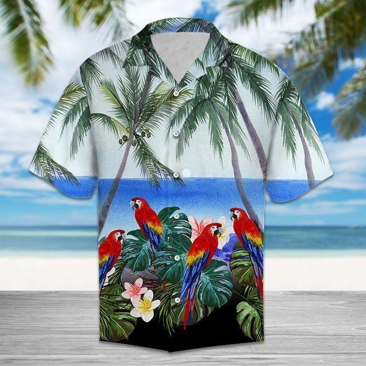 Hawaii Beach parrot Hawaiian Shirt Summer Shirt