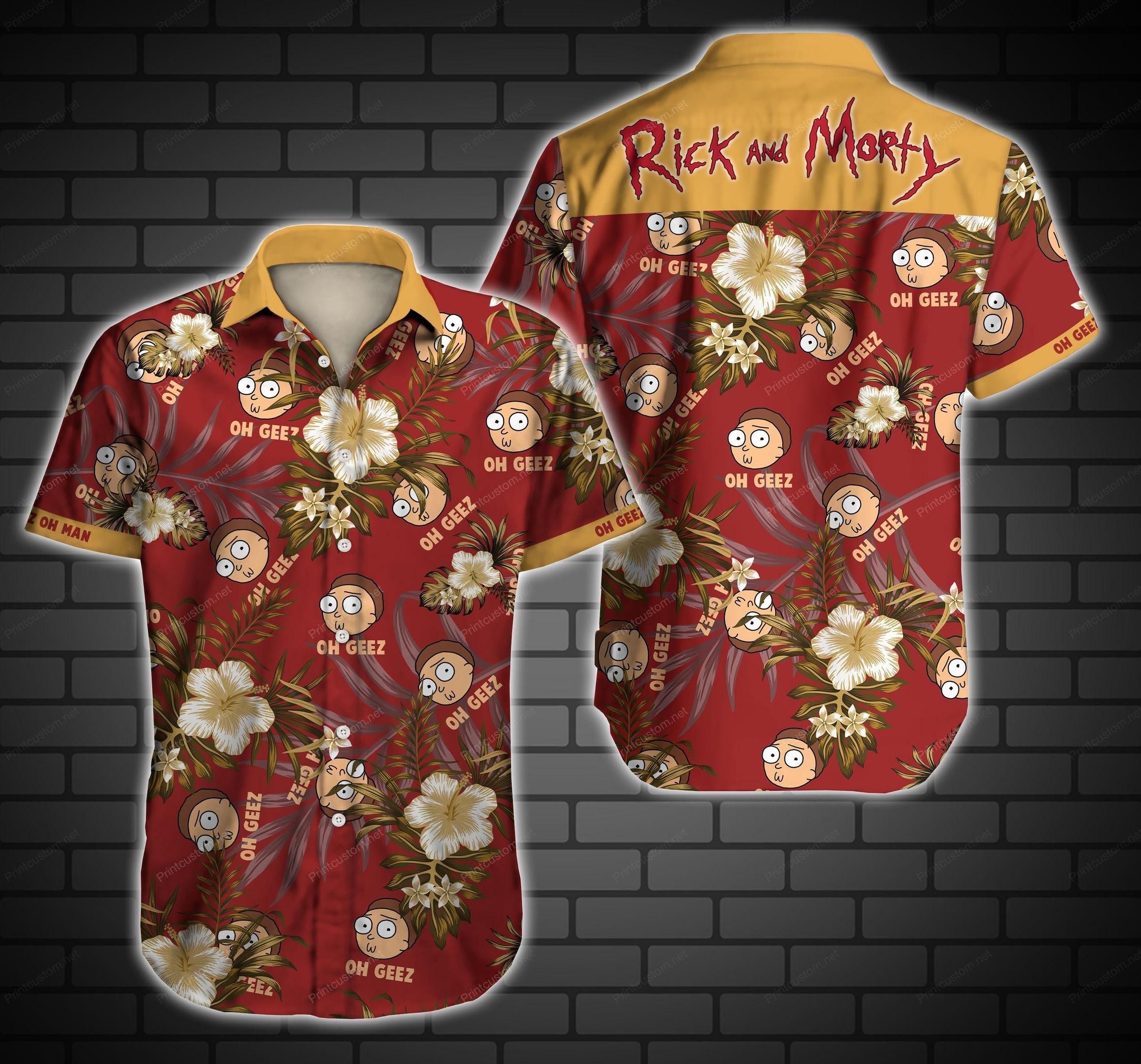 Oh Gezz Rick and Morty Hawaiian Shirt Summer Shirt