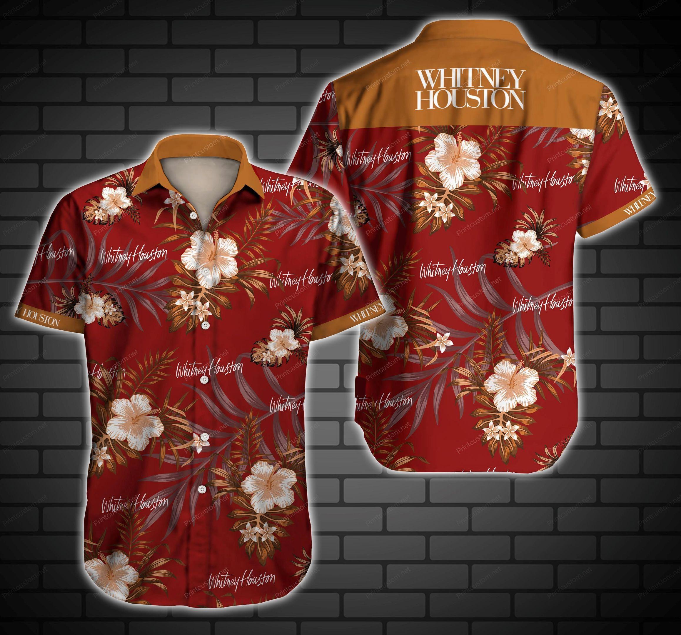 Whitney Houston Hawaiian Shirt Summer Shirt
