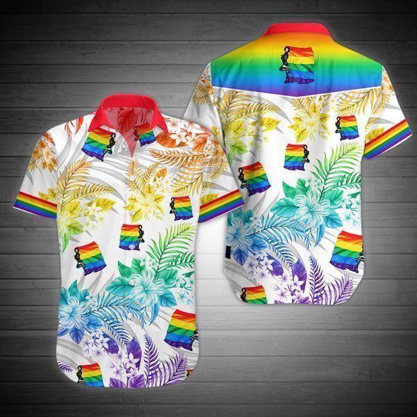 LGBT Flag Hawaiian Shirt Summer Beach Wear Shirt