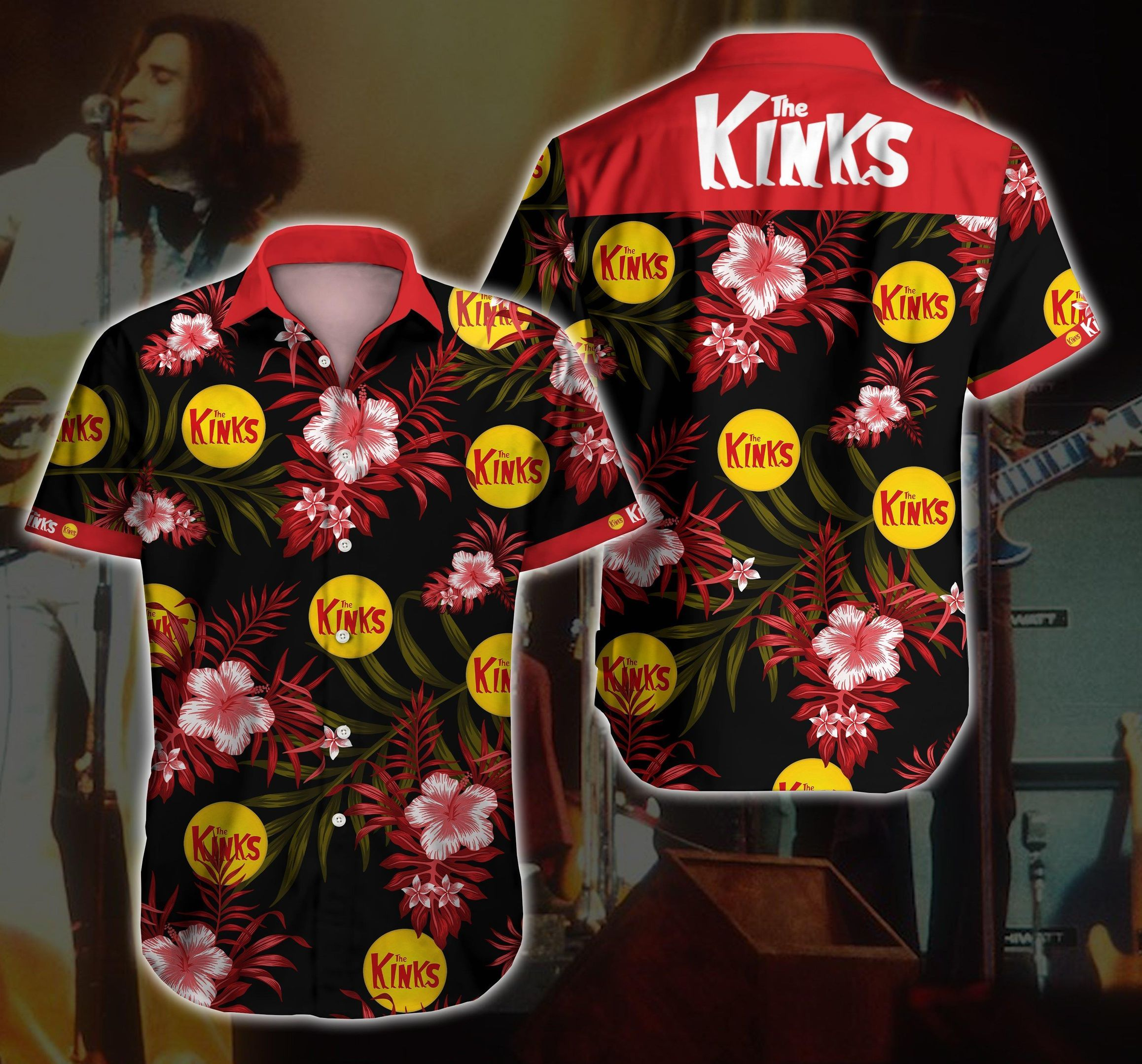 The Kinks rock band Hawaiian Shirt Summer Shirt
